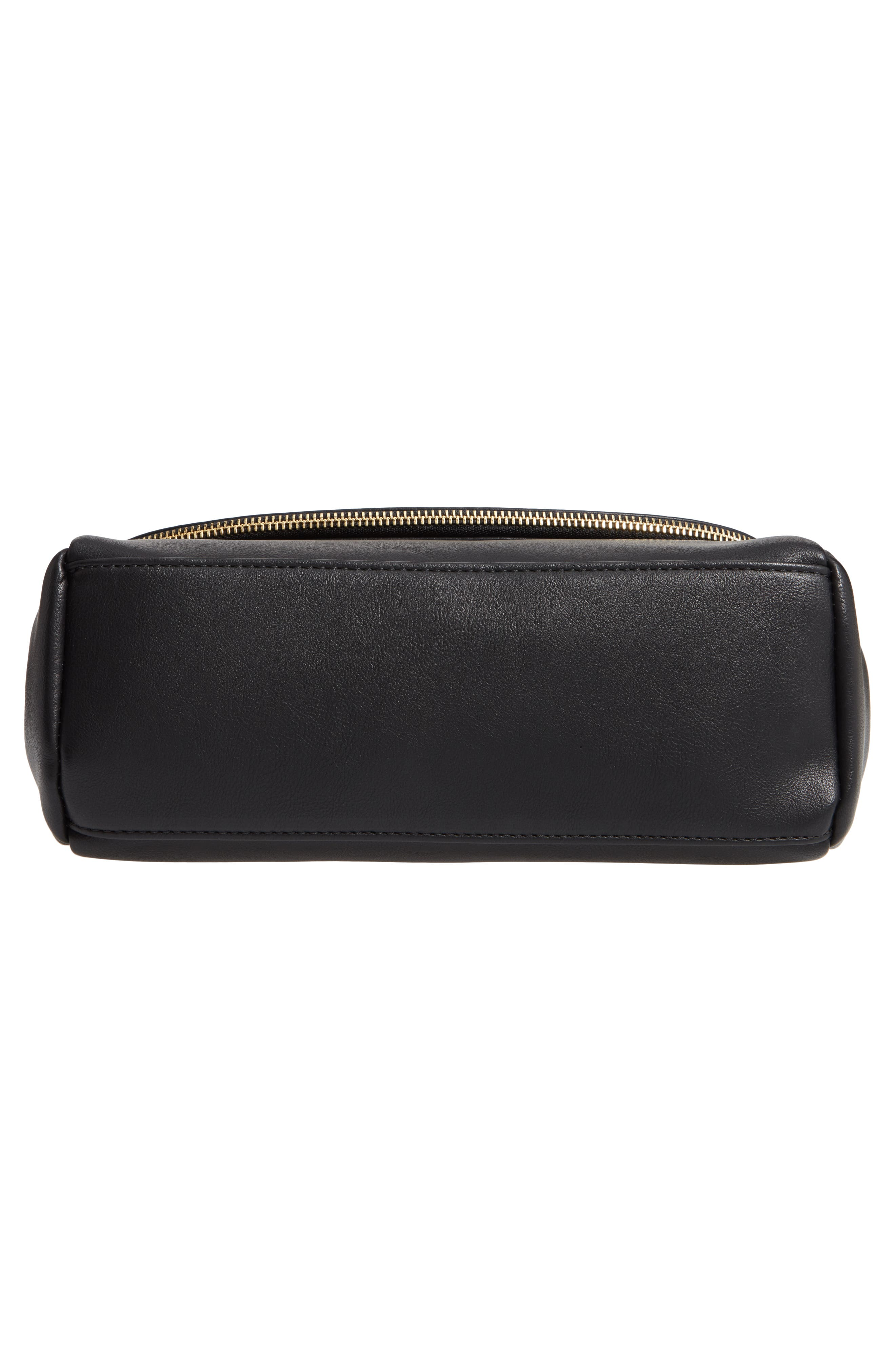 Rubie Faux Leather Crossbody Bag,                             Alternate thumbnail 6, color,                             BLACK