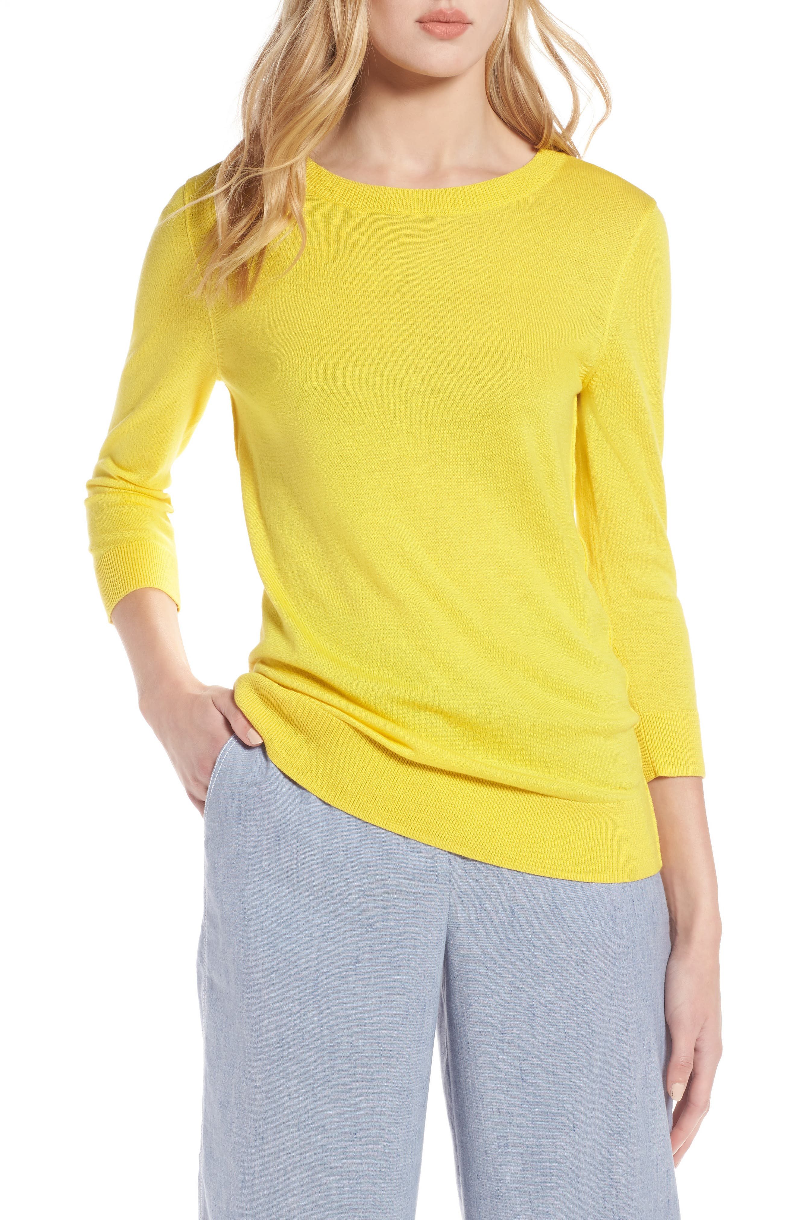 Cotton Blend Pullover,                             Main thumbnail 5, color,