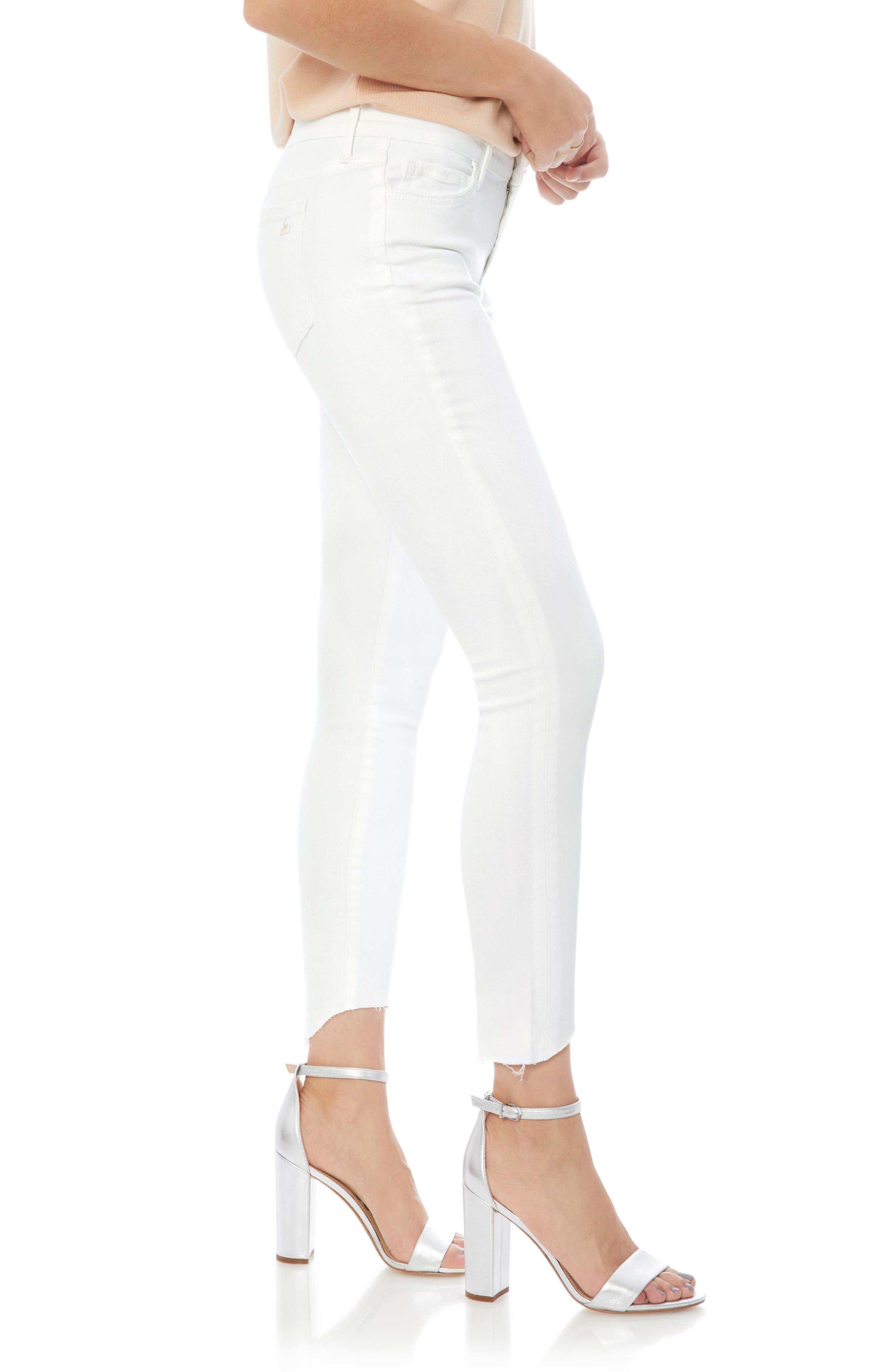 The Kitten Raw Edge Ankle Skinny Jeans,                             Alternate thumbnail 3, color,