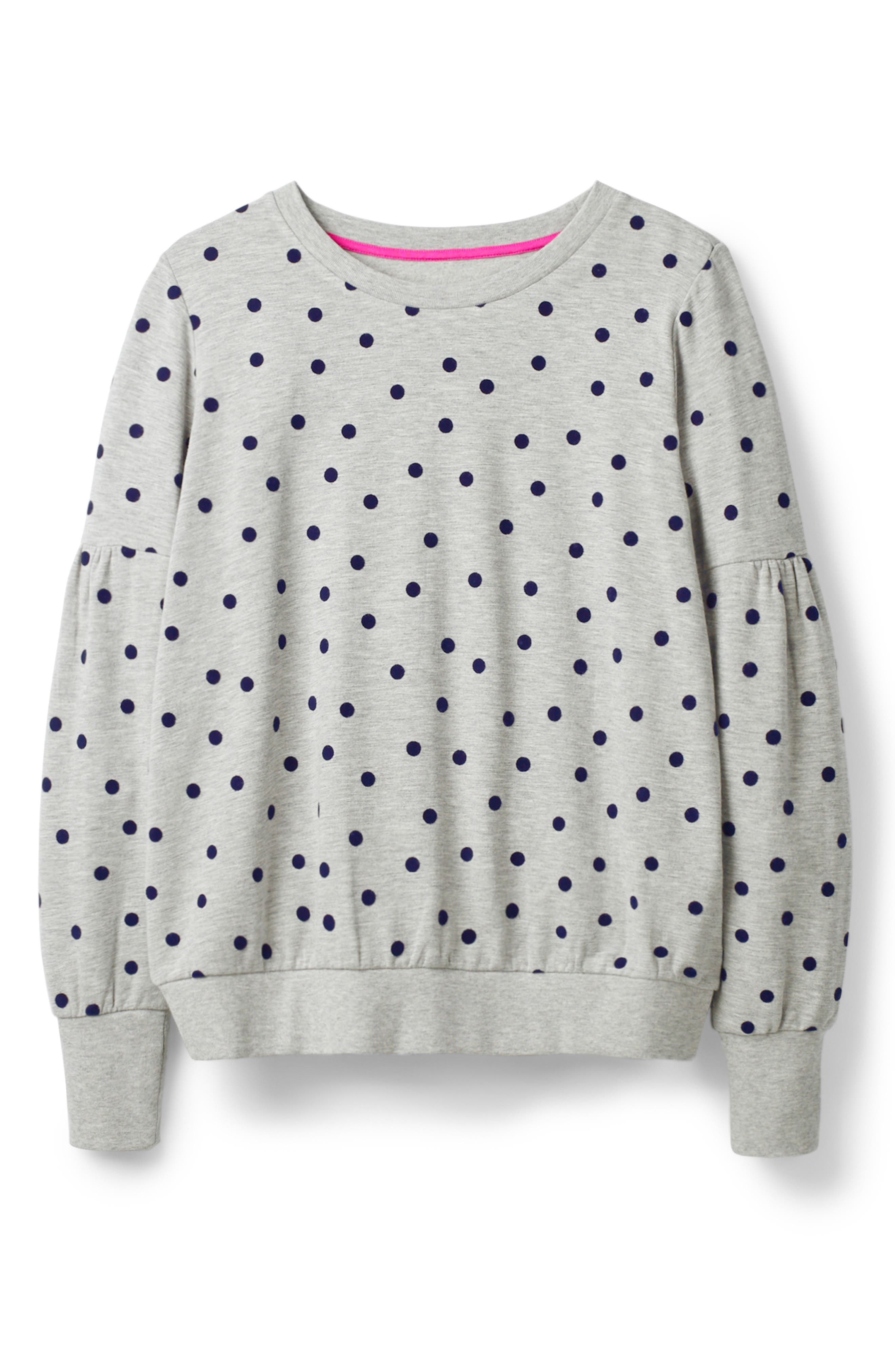 Renee Sweatshirt,                             Alternate thumbnail 5, color,                             GREY MARL FLOCKED SPOT
