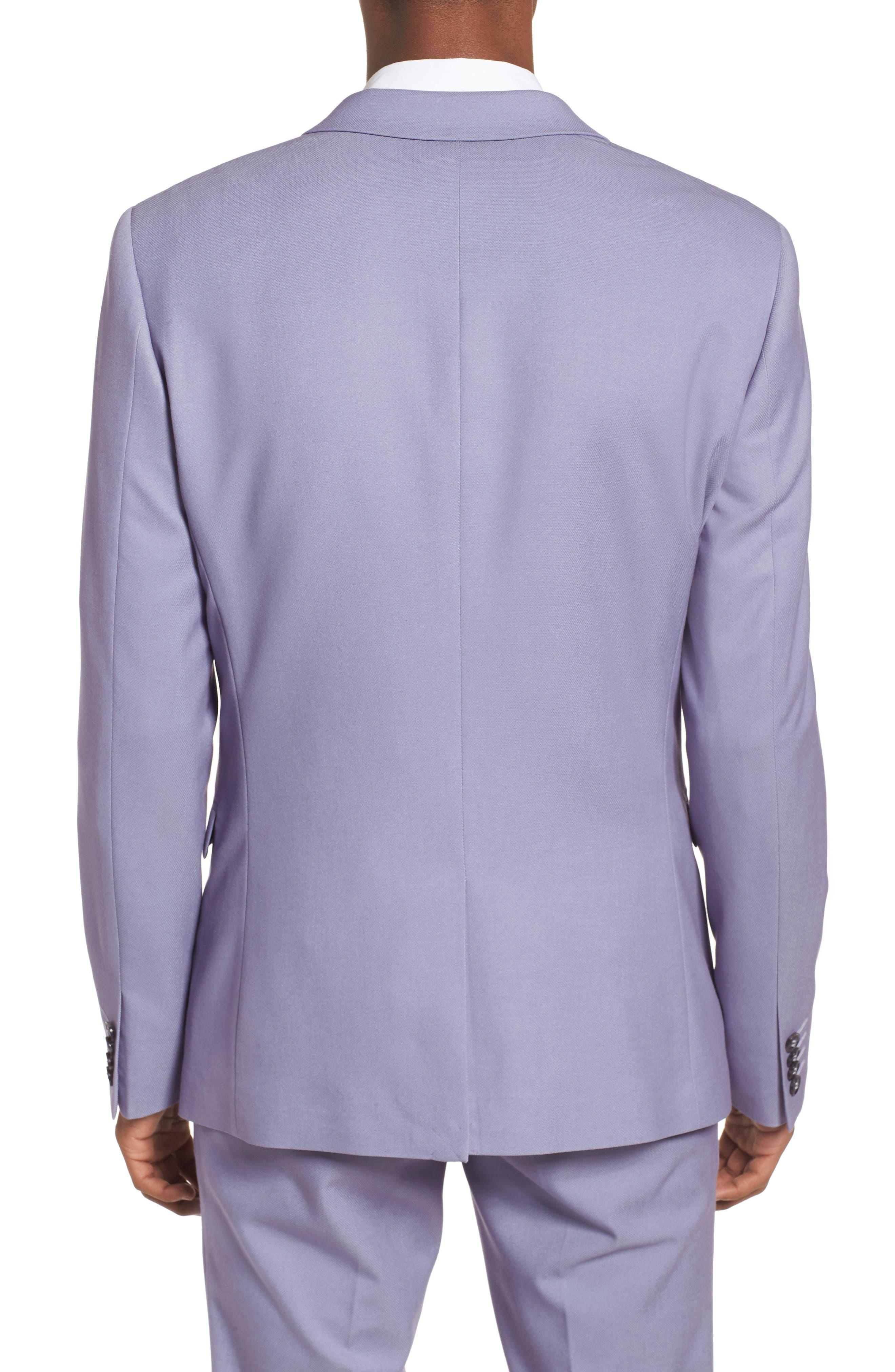 Skinny Fit Suit Jacket,                             Alternate thumbnail 4, color,