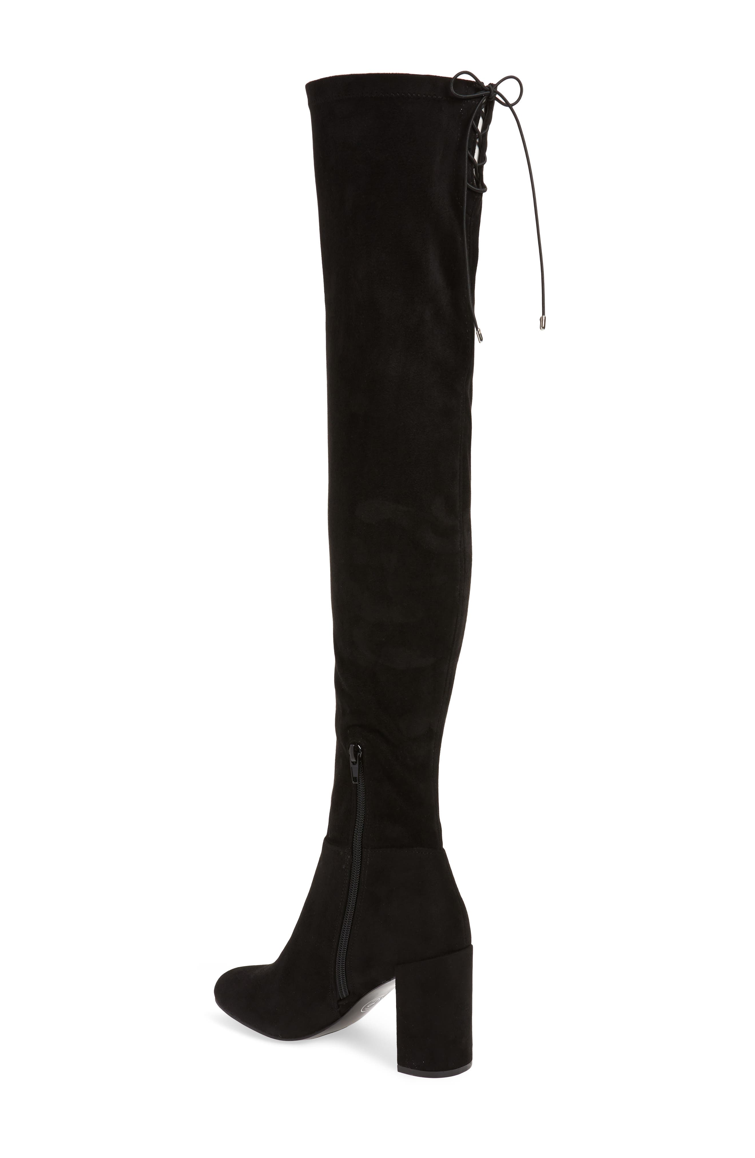 King Over the Knee Boot,                             Alternate thumbnail 2, color,                             BLACK