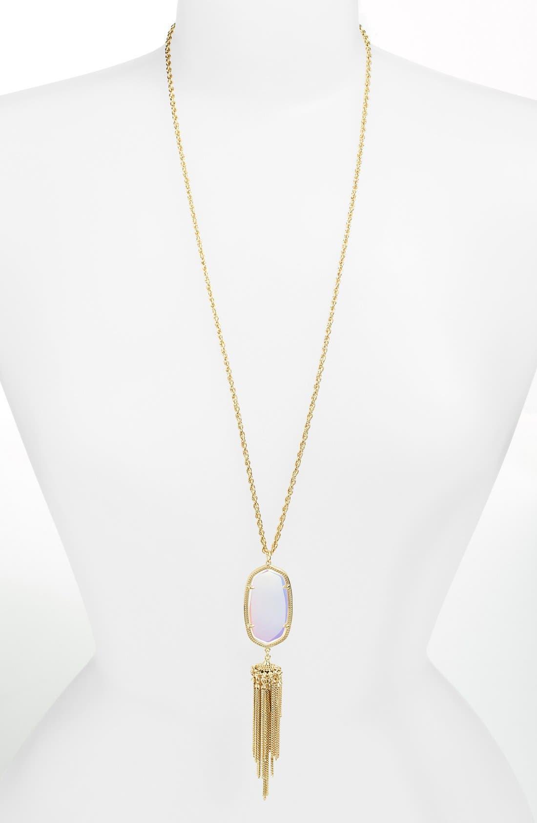 Rayne Stone Tassel Pendant Necklace,                             Main thumbnail 72, color,