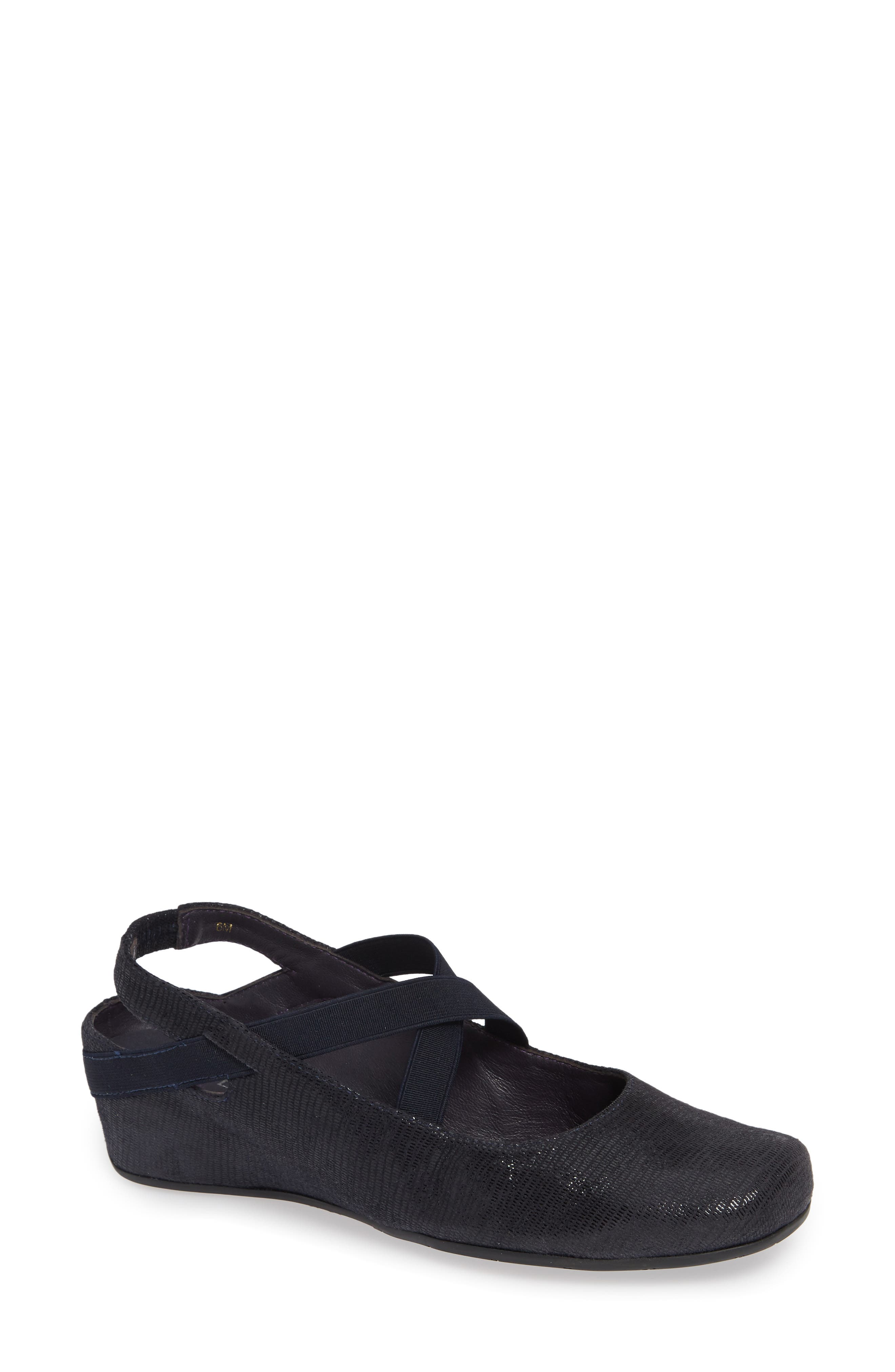 'Marjory' Wedge,                             Main thumbnail 1, color,                             NAVY LEATHER