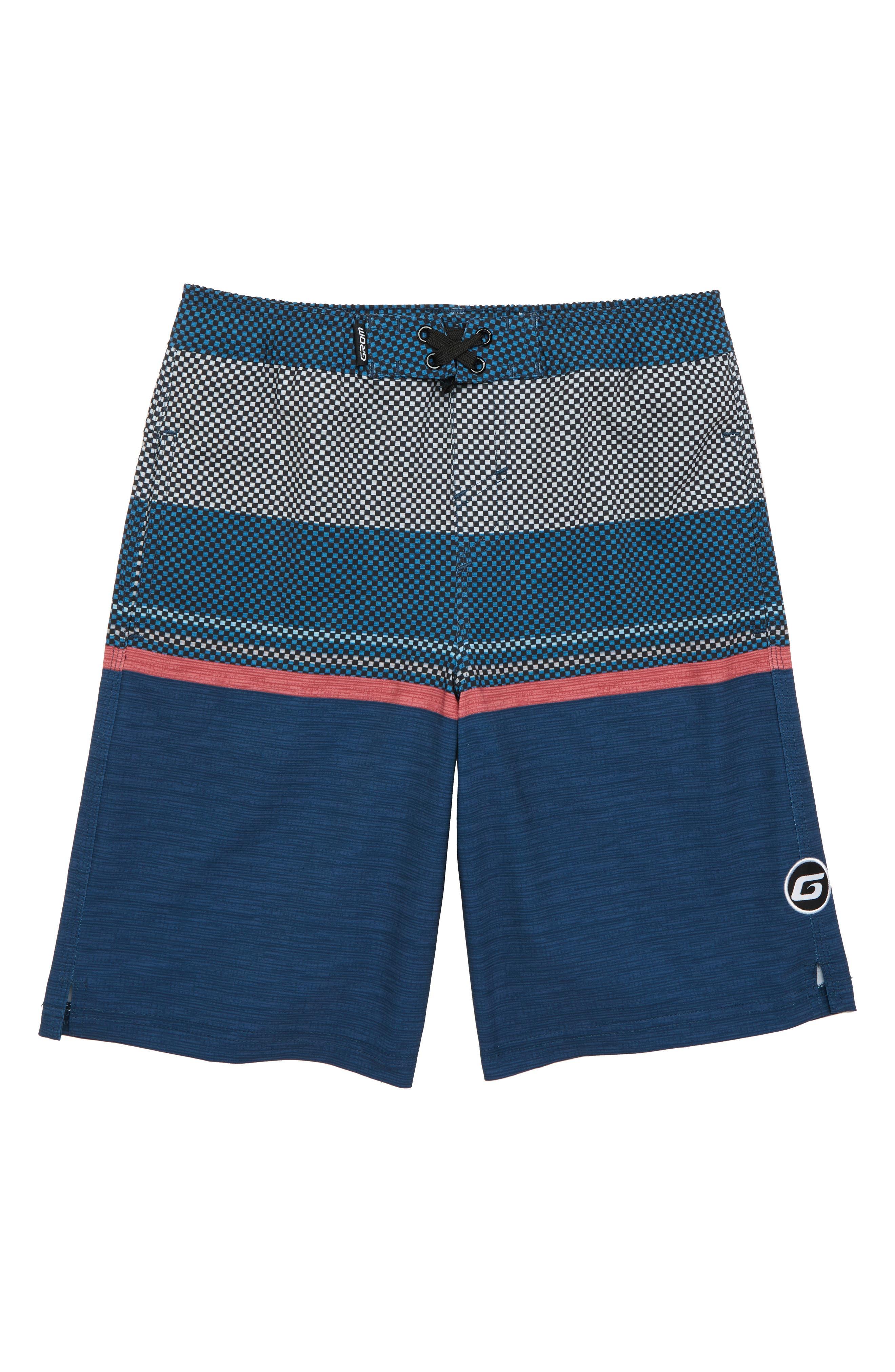 Horizon Board Shorts,                         Main,                         color, BLUE