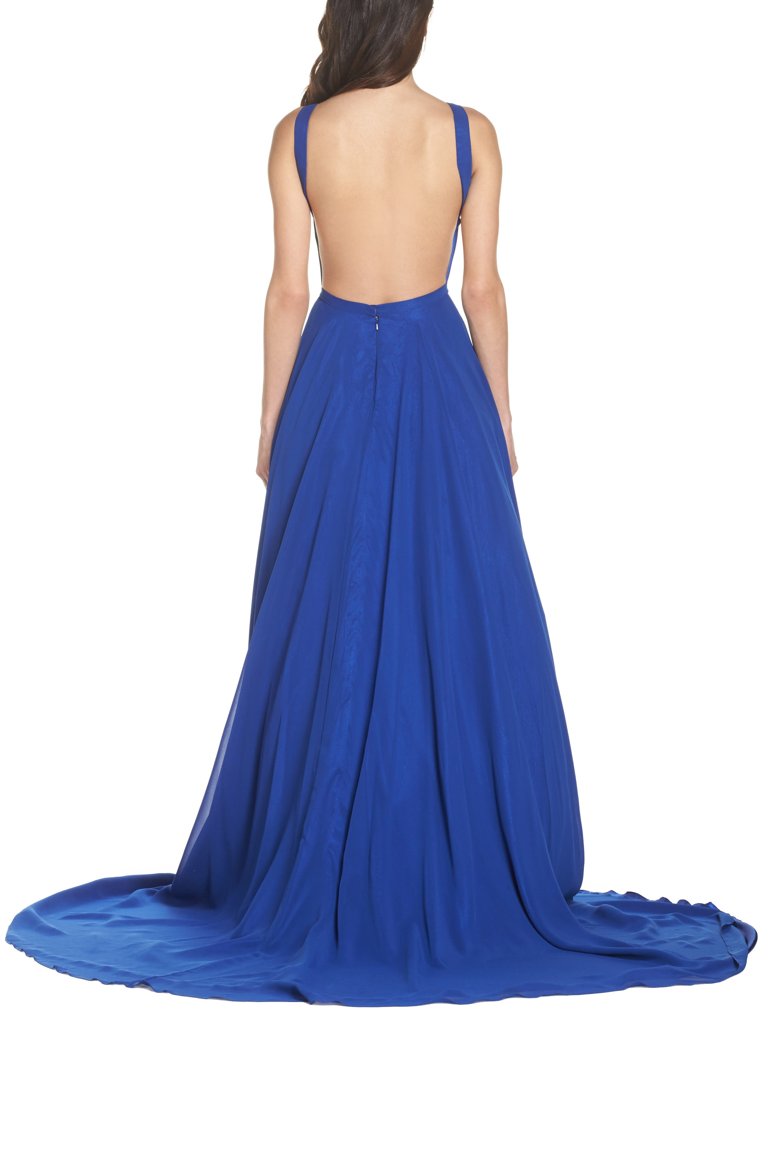 Mac Duggal Bateau Neck Ballgown,                             Alternate thumbnail 2, color,                             415