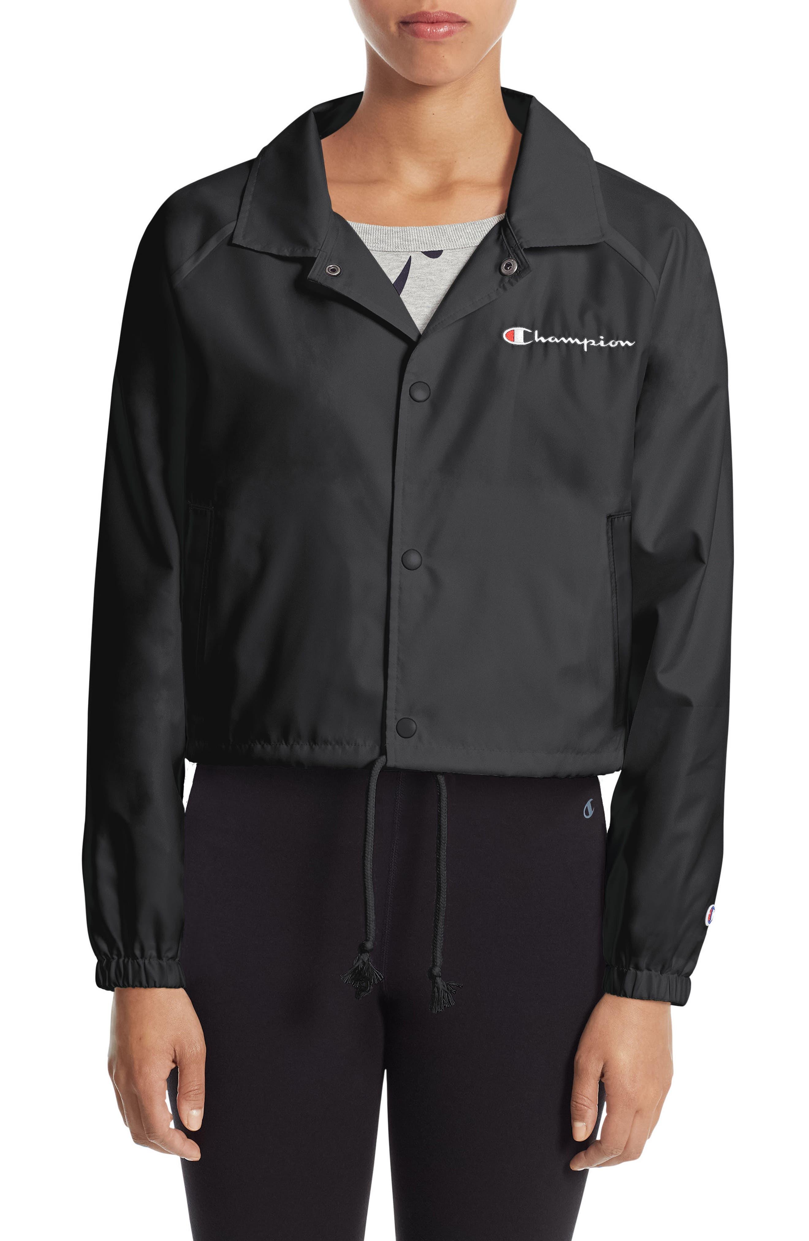 Crop Coach's Jacket,                             Main thumbnail 1, color,                             001