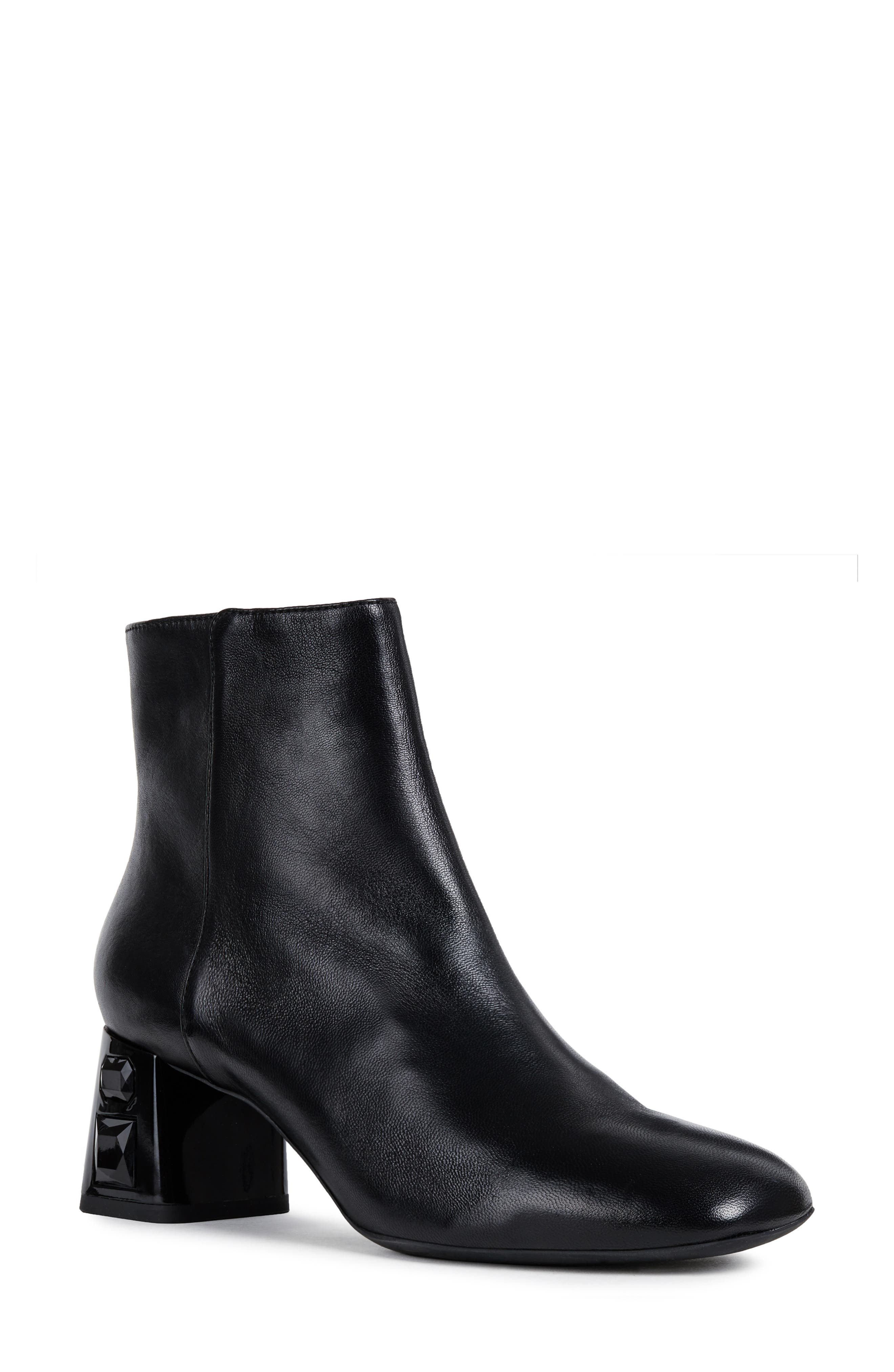 GEOX Seyla Bootie in Black Leather