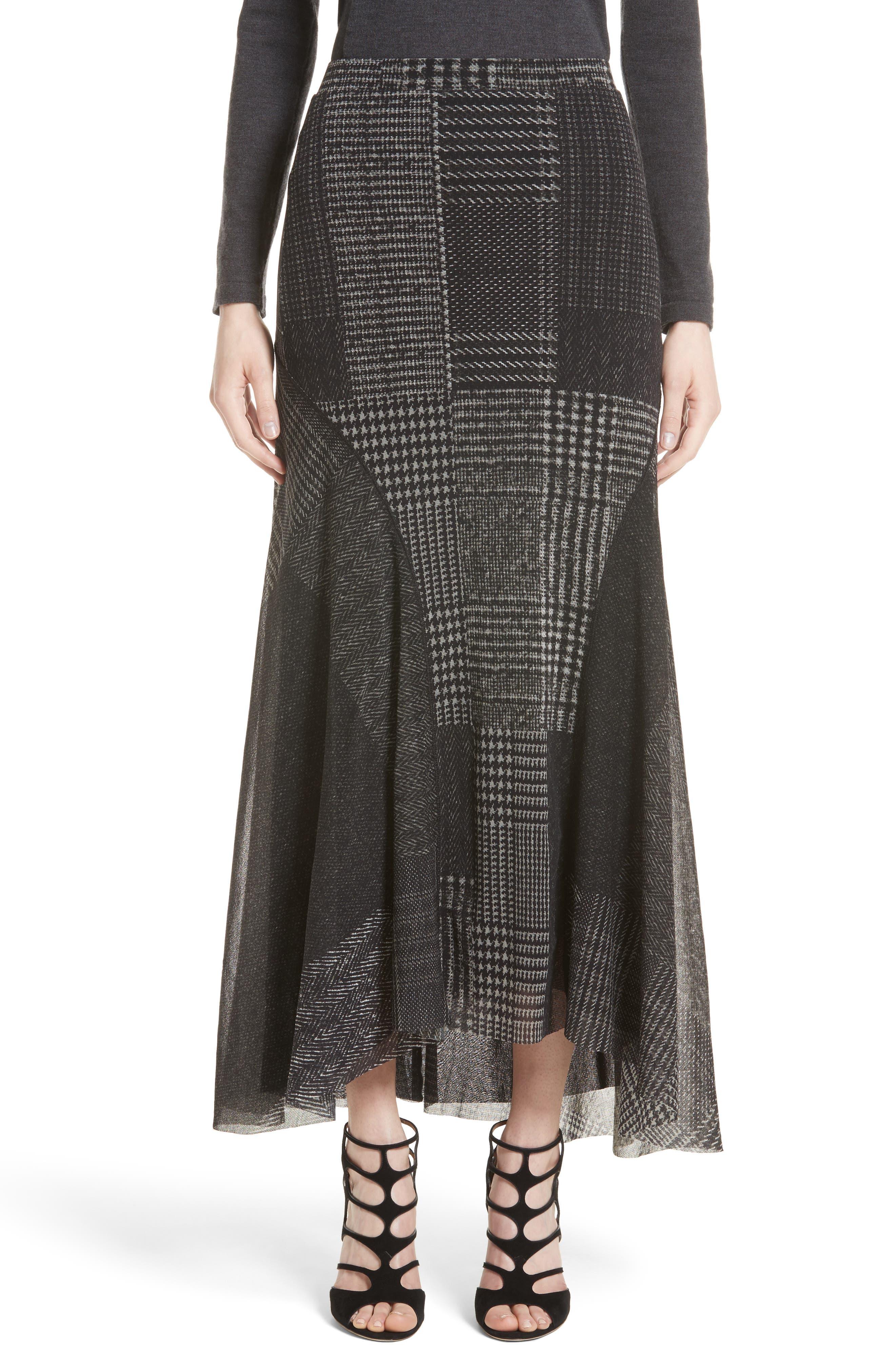Tulle Maxi Skirt,                             Main thumbnail 1, color,                             001