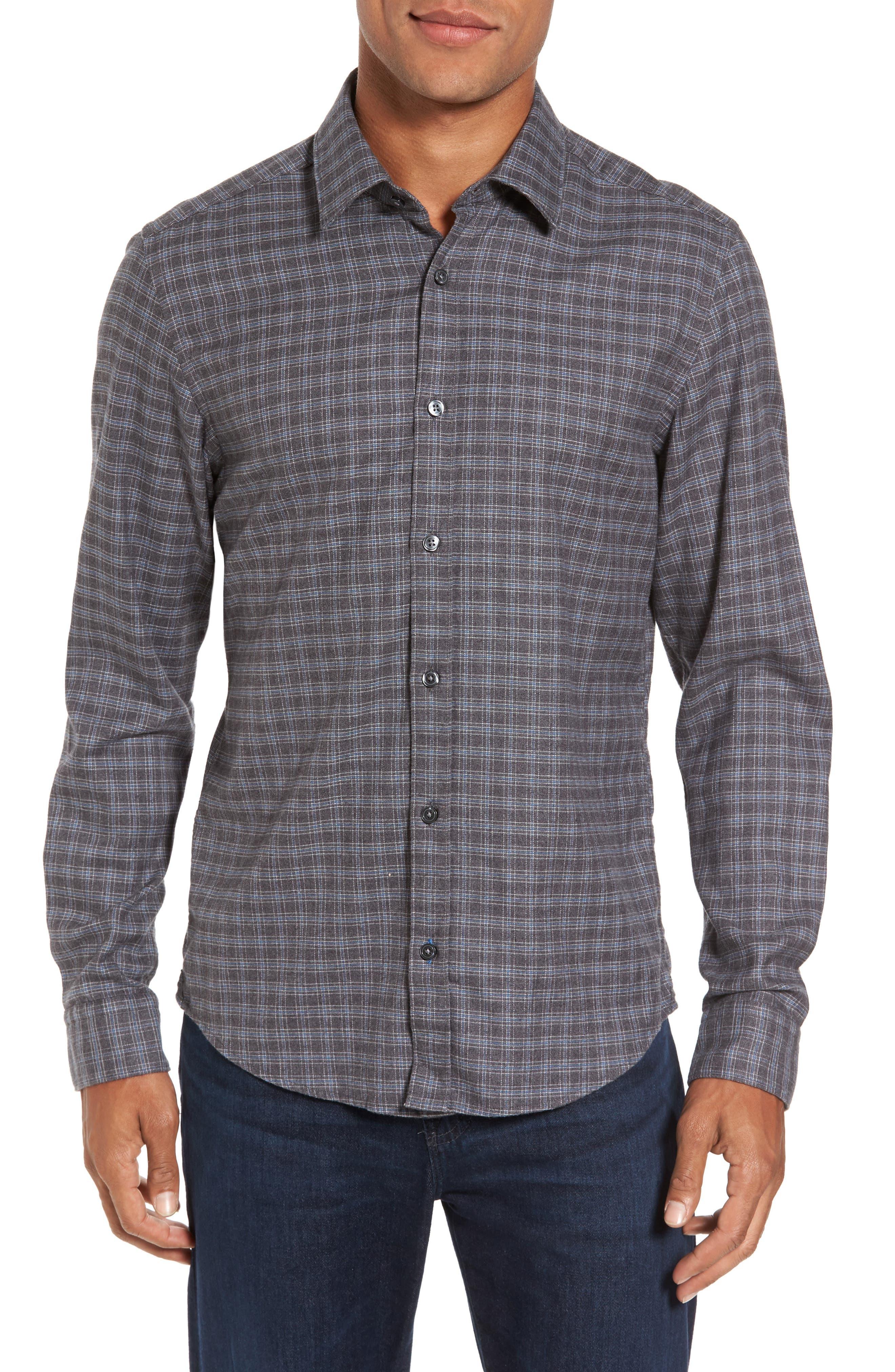 Lance Slim Fit Flannel Sport Shirt,                         Main,                         color, 030