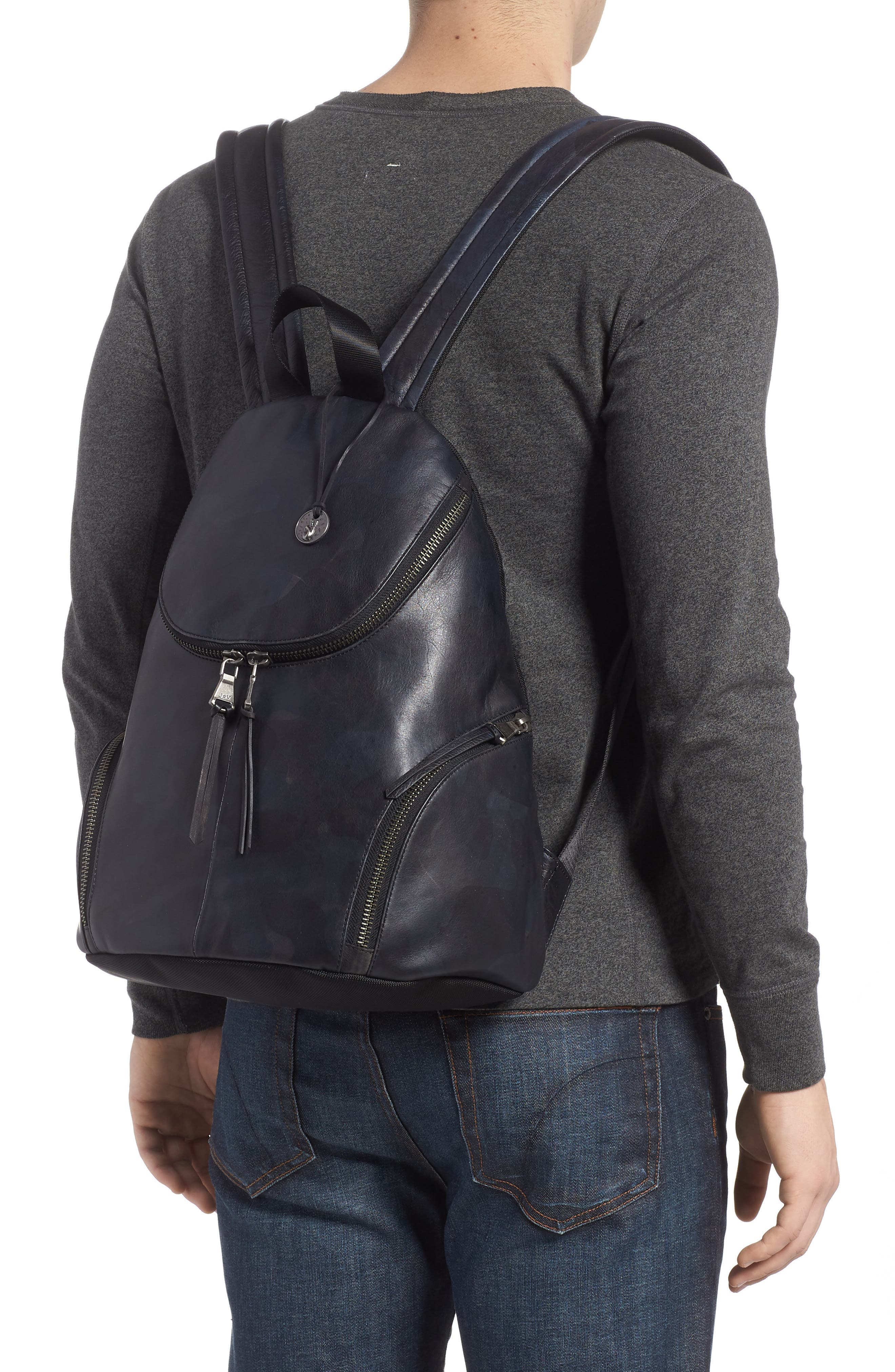 Brooklyn Suede Backpack,                             Alternate thumbnail 2, color,                             MIDNIGHT