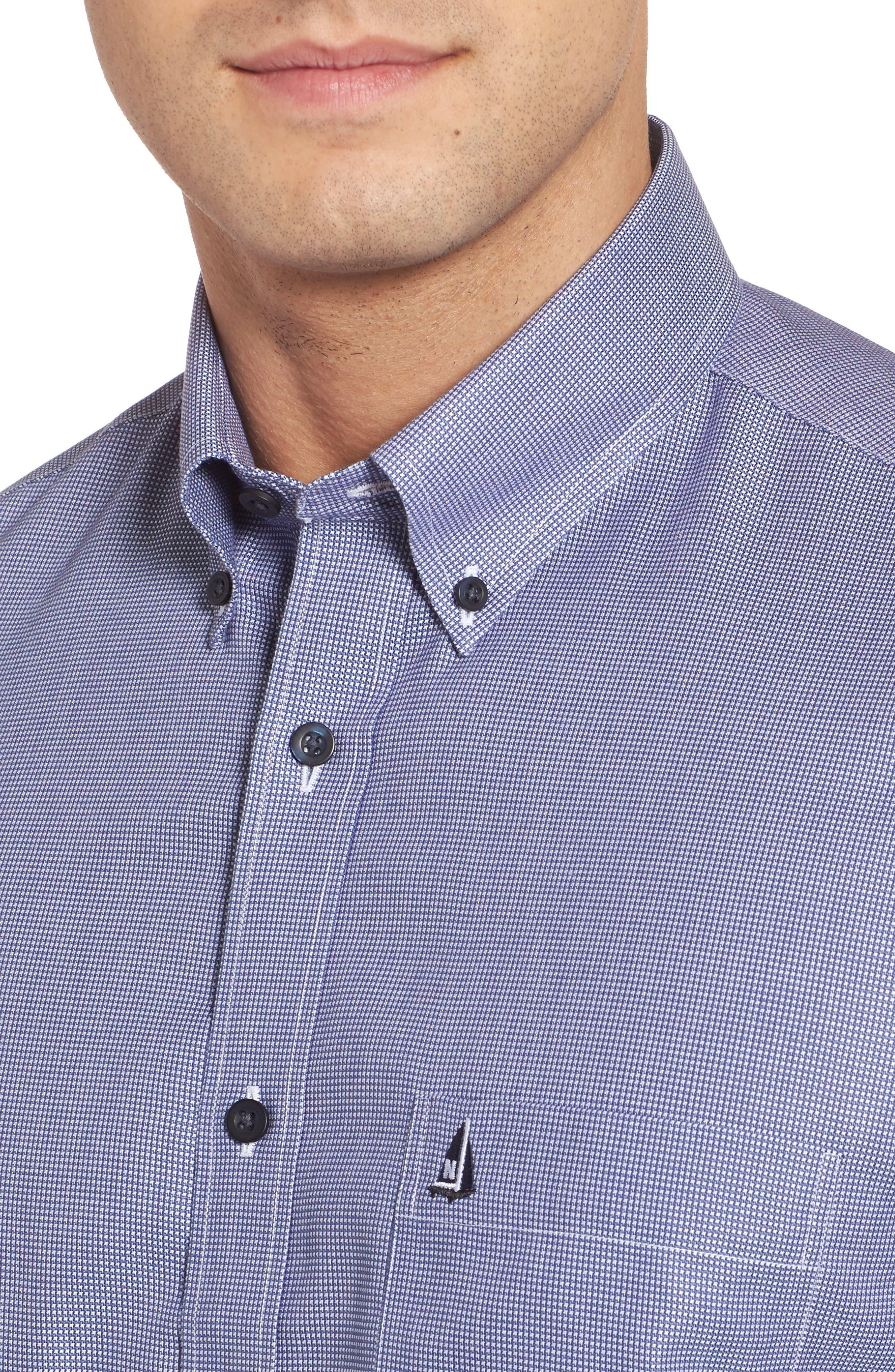 'Classic' Smartcare<sup>™</sup> Regular Fit Short Sleeve Cotton Sport Shirt,                             Alternate thumbnail 86, color,