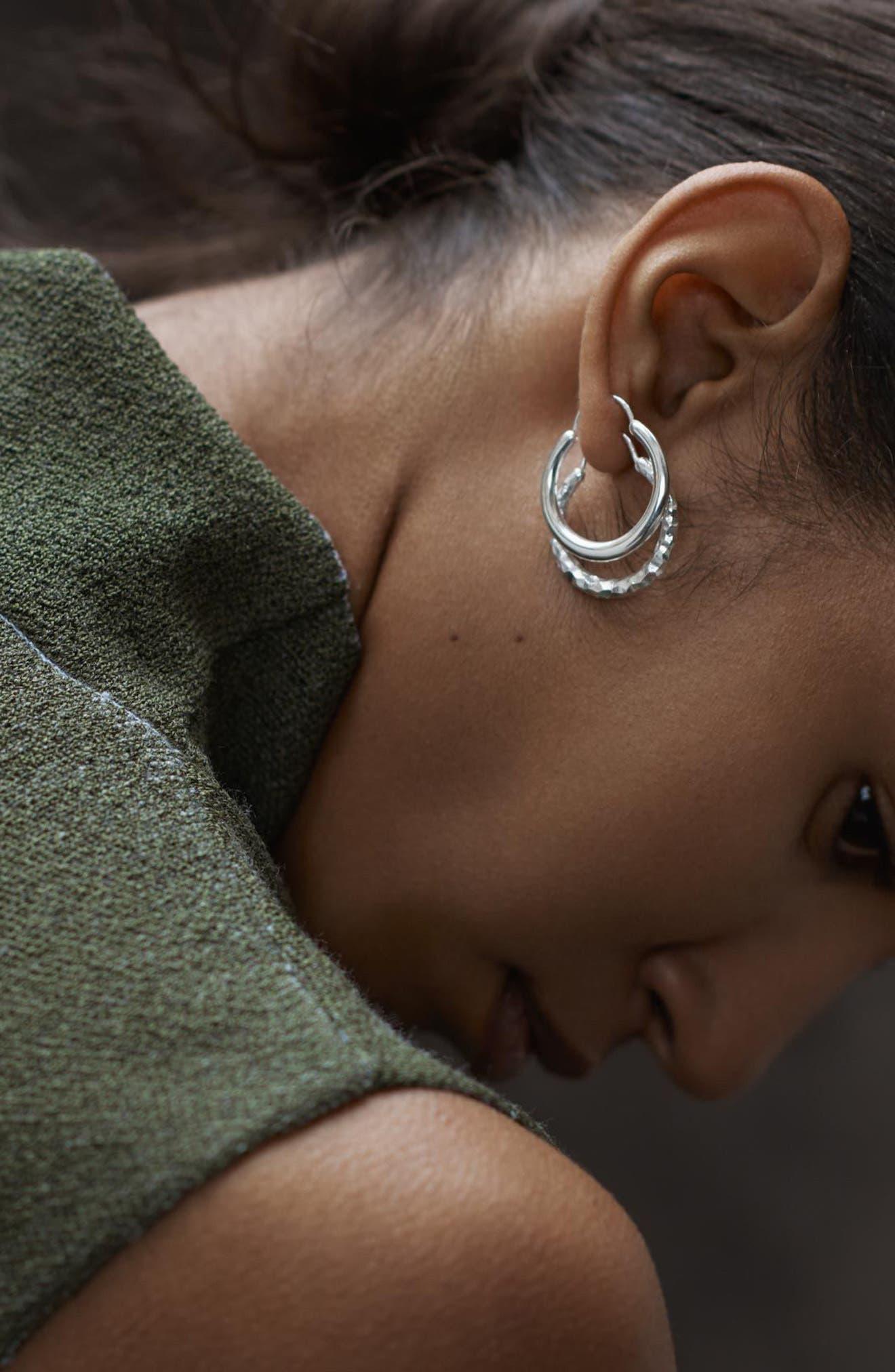 Snake Polished Silver Earrings,                             Alternate thumbnail 6, color,                             040