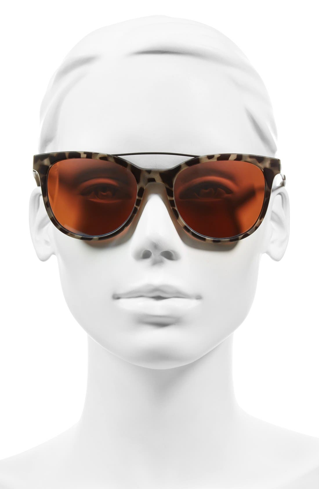 'Bengal' 54mm Sunglasses,                             Alternate thumbnail 2, color,                             NUDE TORTOISE/ ROSE SKY BLUE