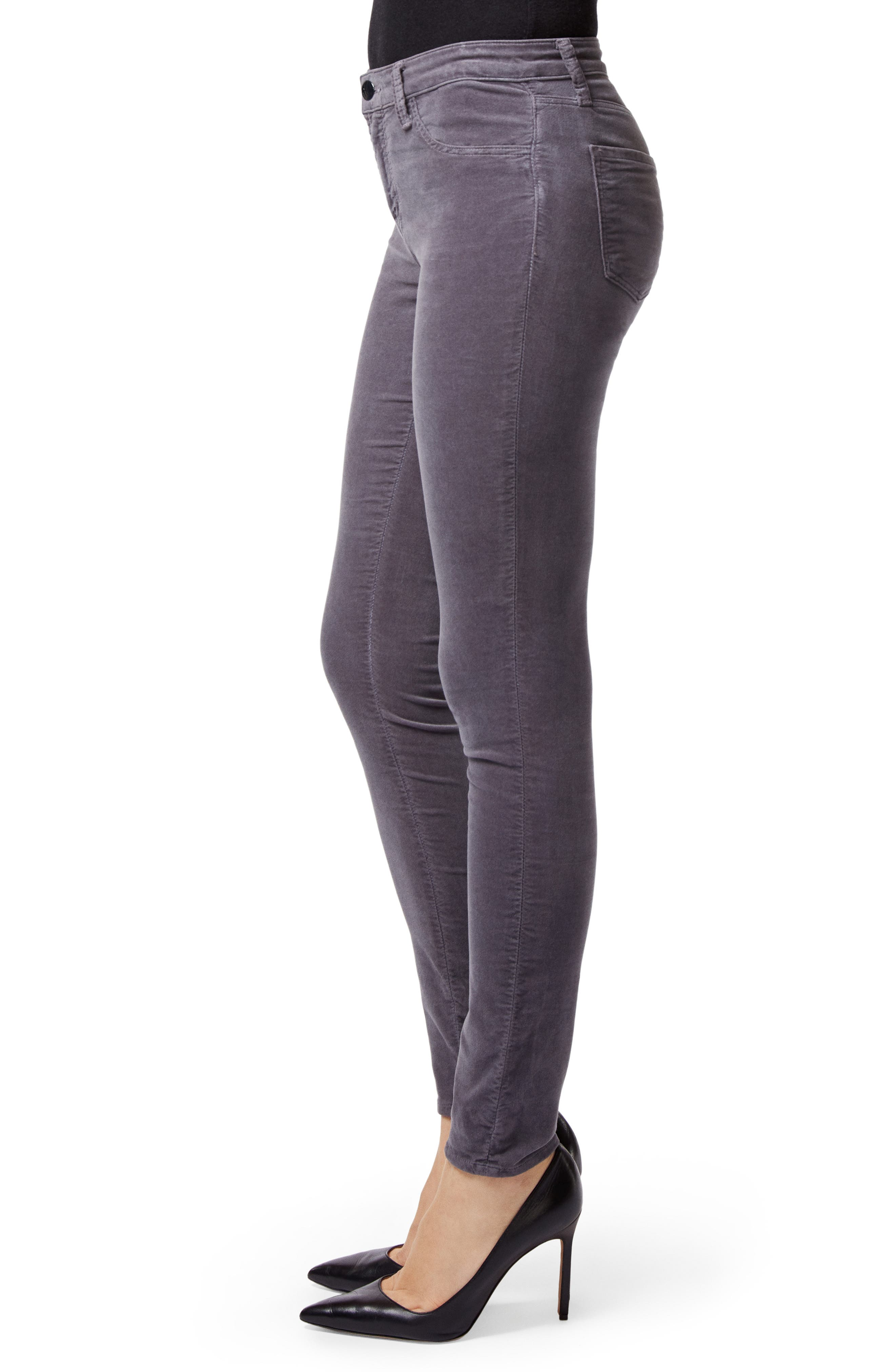 '815' Mid Rise Velveteen Super Skinny Jeans,                             Alternate thumbnail 3, color,                             030