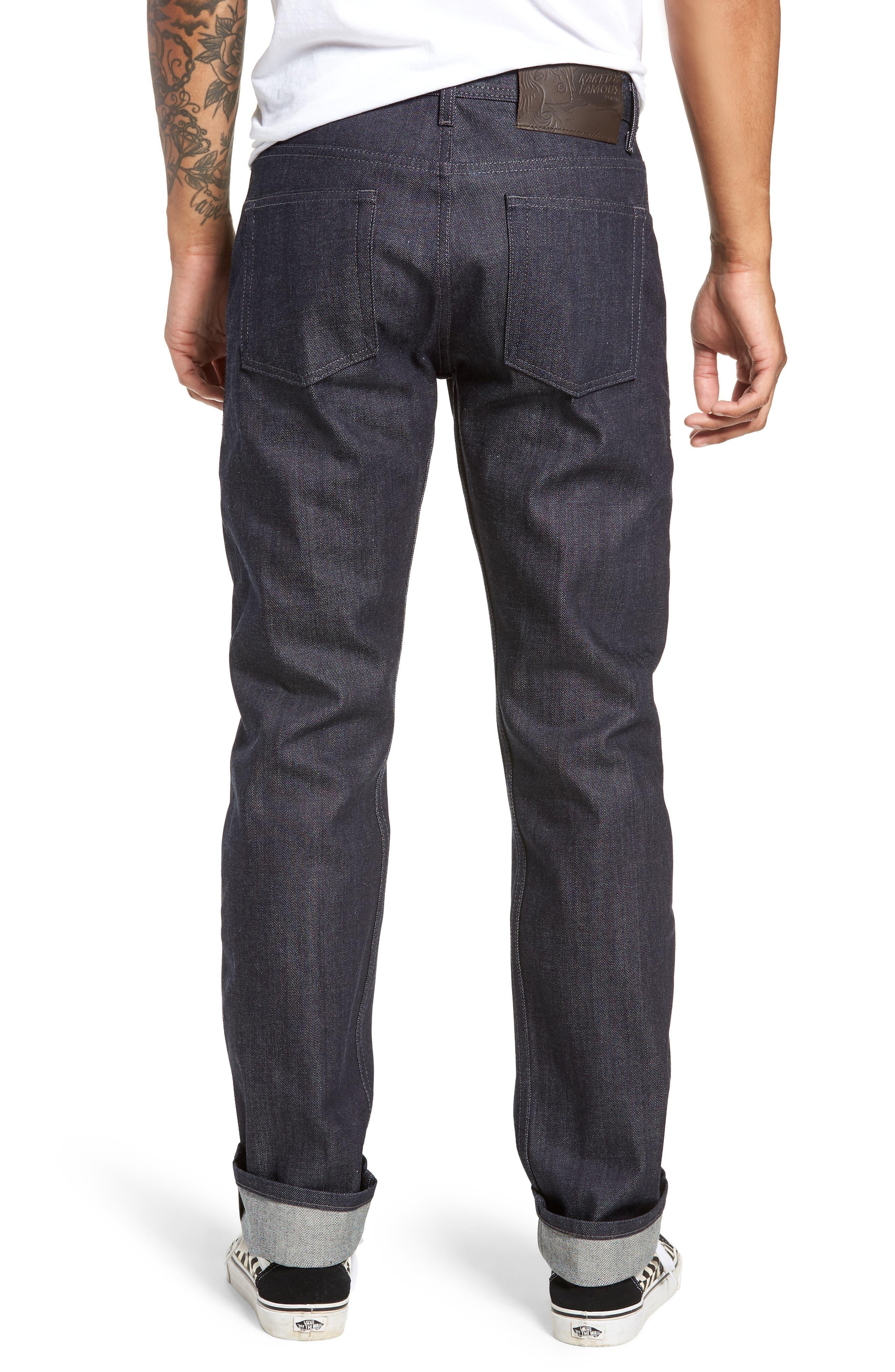 'Weird Guy' Slim Fit Selvedge Jeans,                             Alternate thumbnail 2, color,                             INDIGO