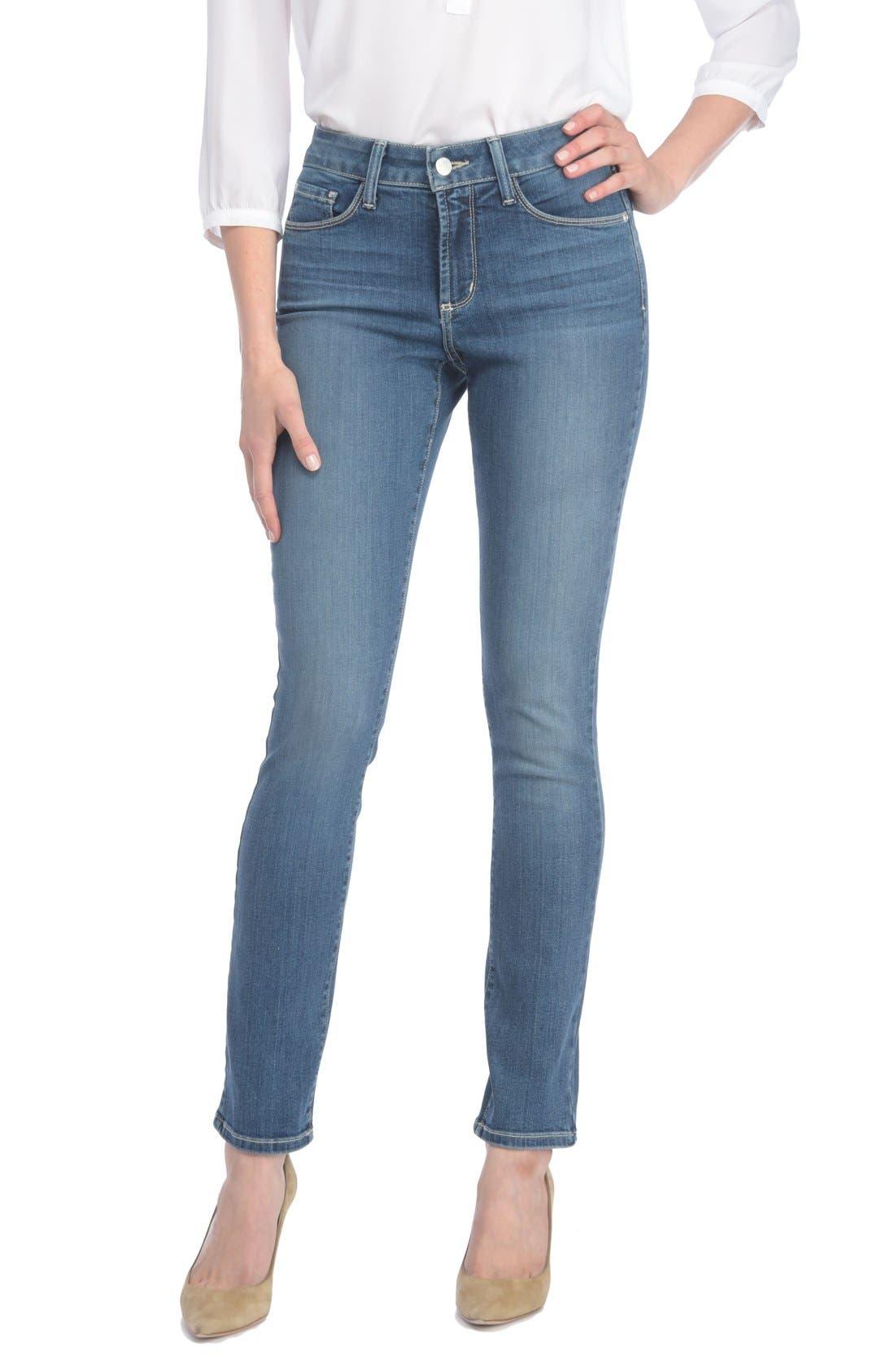 Alina Stretch Skinny Jeans,                         Main,                         color, 421