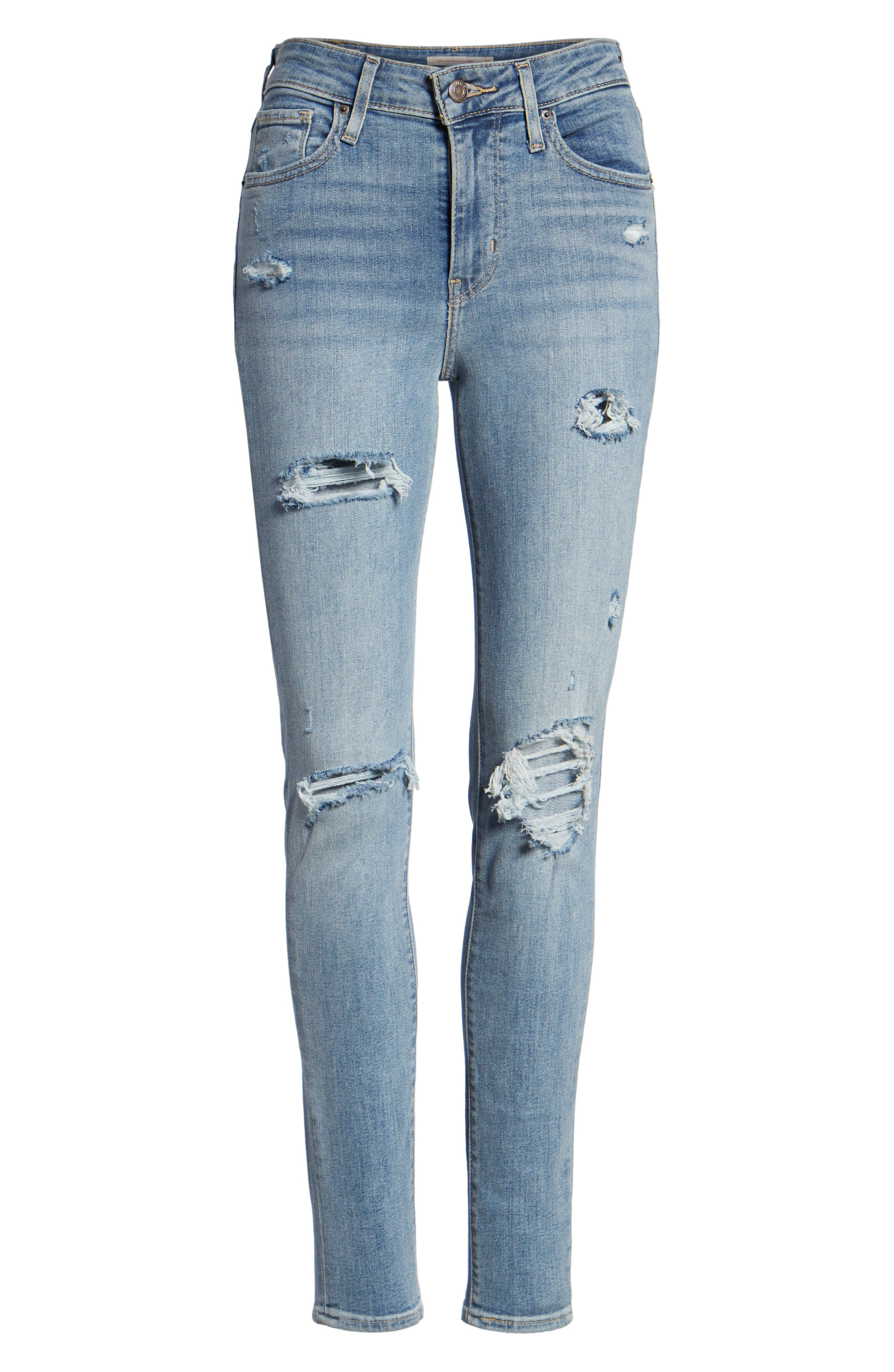 721<sup>™</sup> High Waist Skinny Jeans,                             Alternate thumbnail 7, color,                             SAY ANYTHING