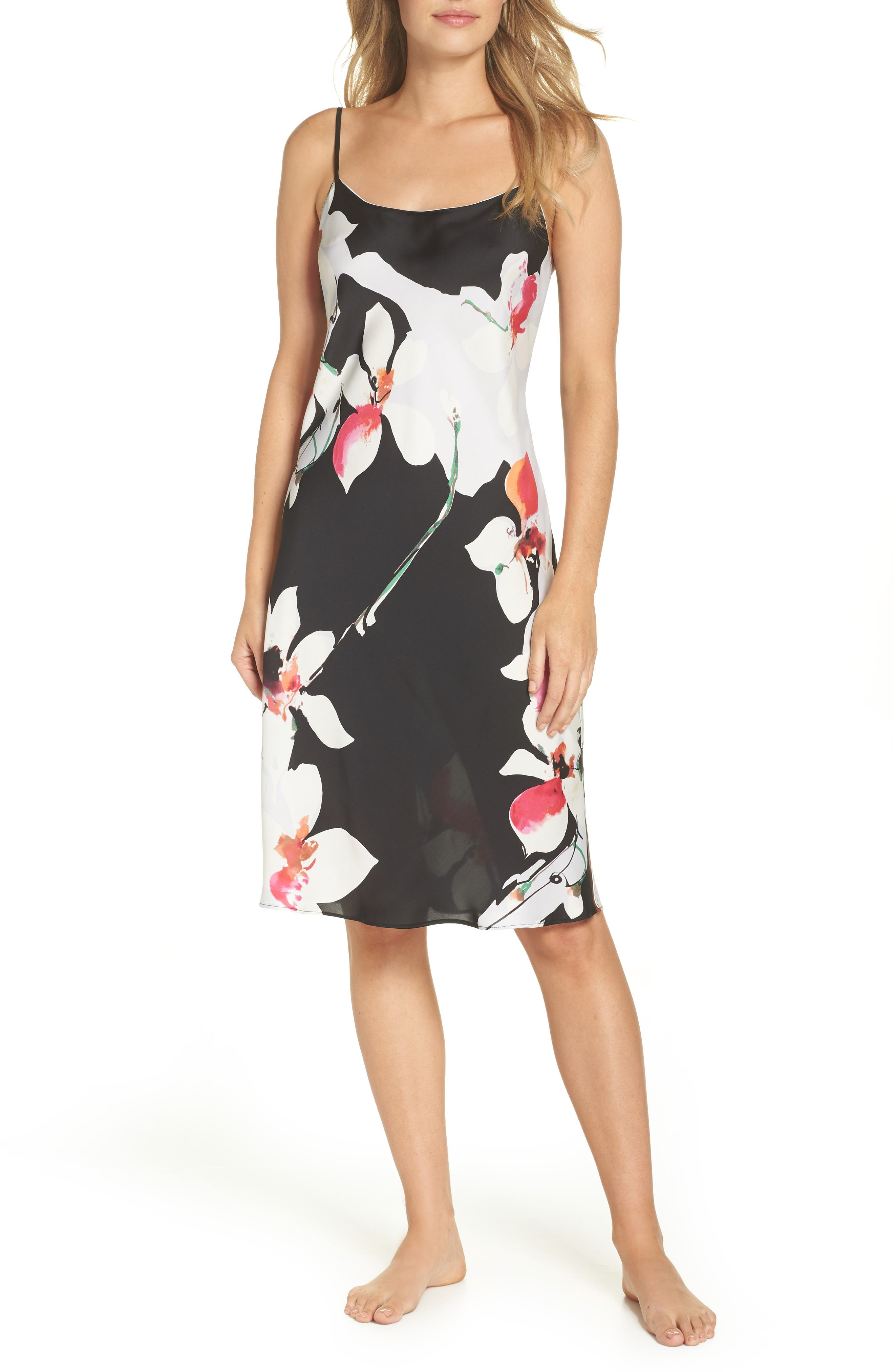 Natori Cattleya Nightgown, Black