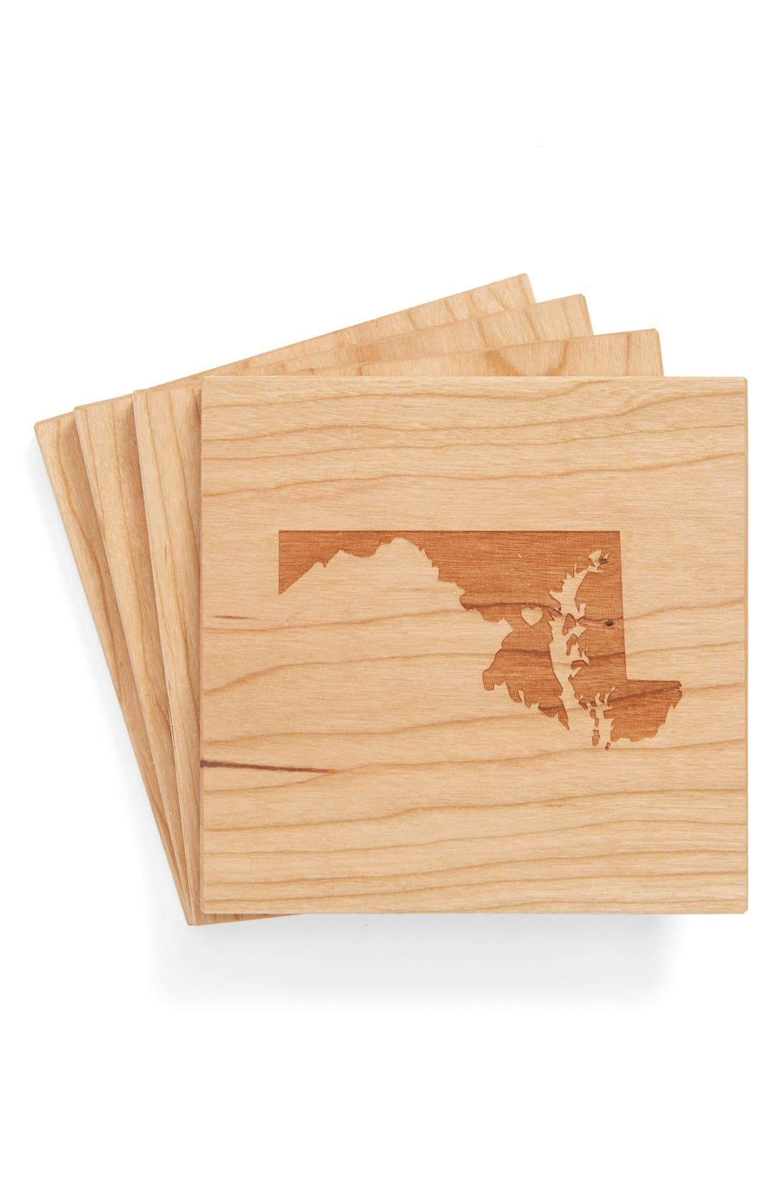 'State Silhouette' Coasters,                             Main thumbnail 38, color,