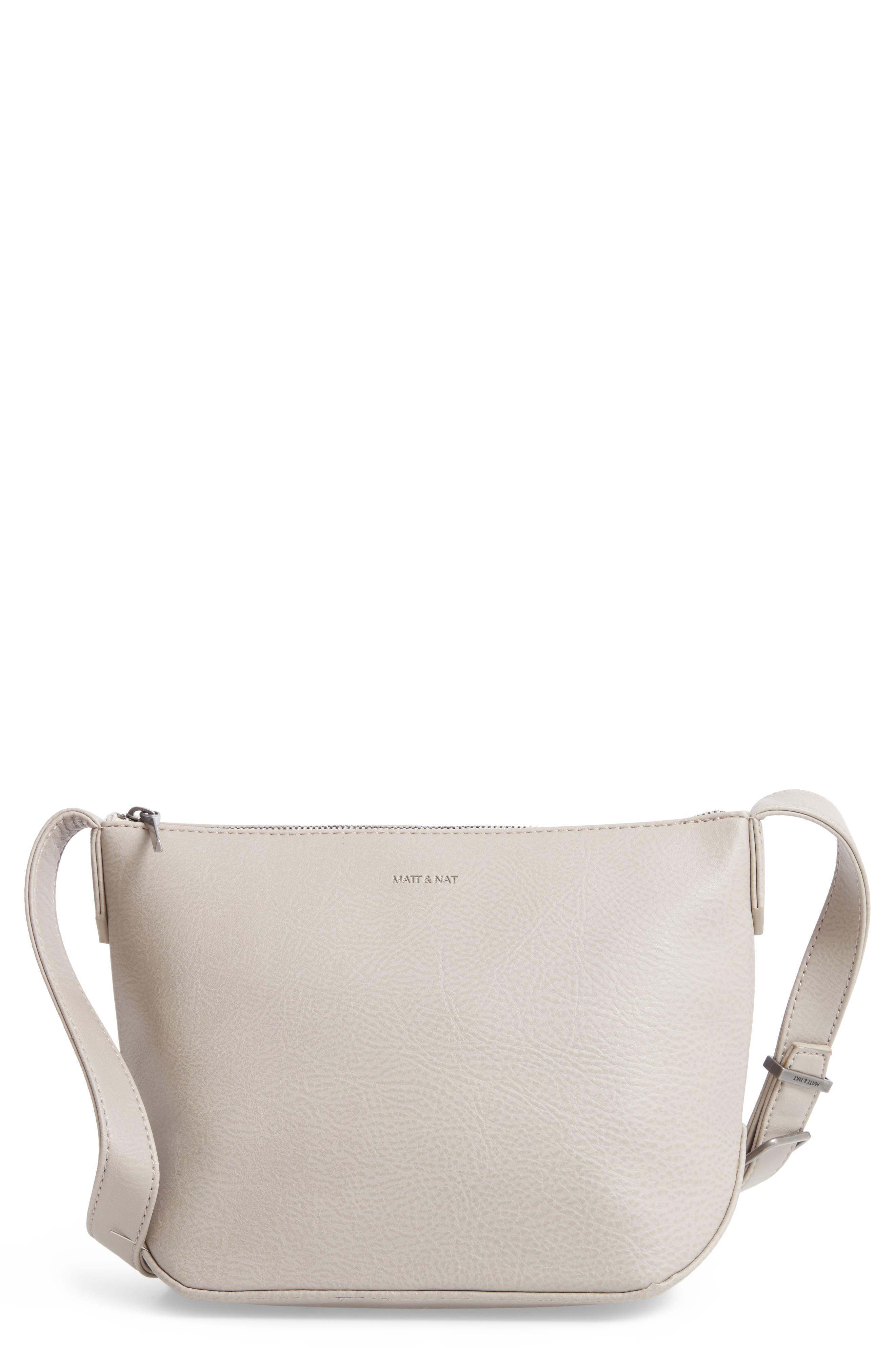 Large Sam Faux Leather Crossbody Bag, Main, color, 050