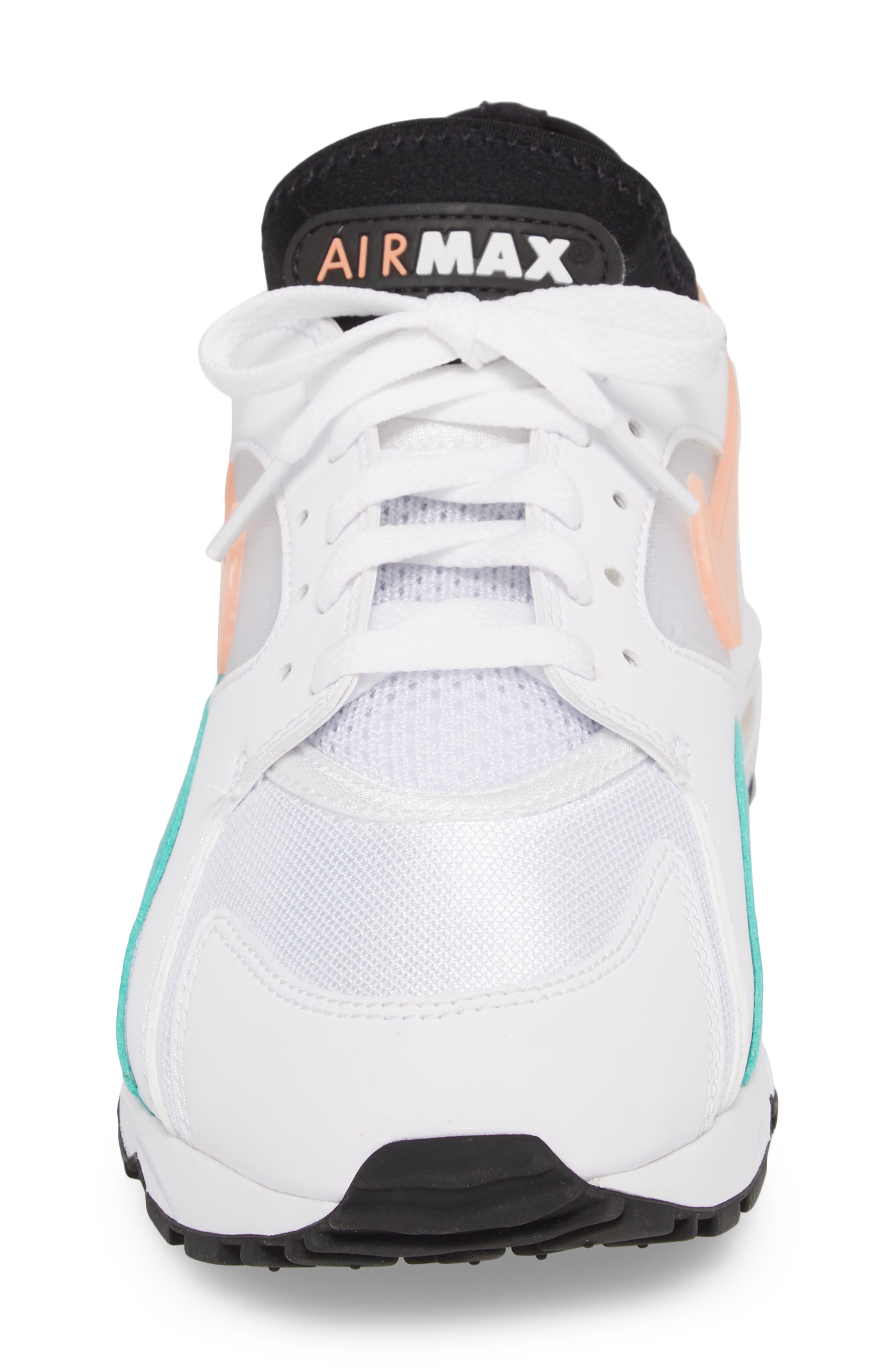 Air Max 93 Sneaker,                             Alternate thumbnail 4, color,                             WHITE/ CRIMSON BLISS