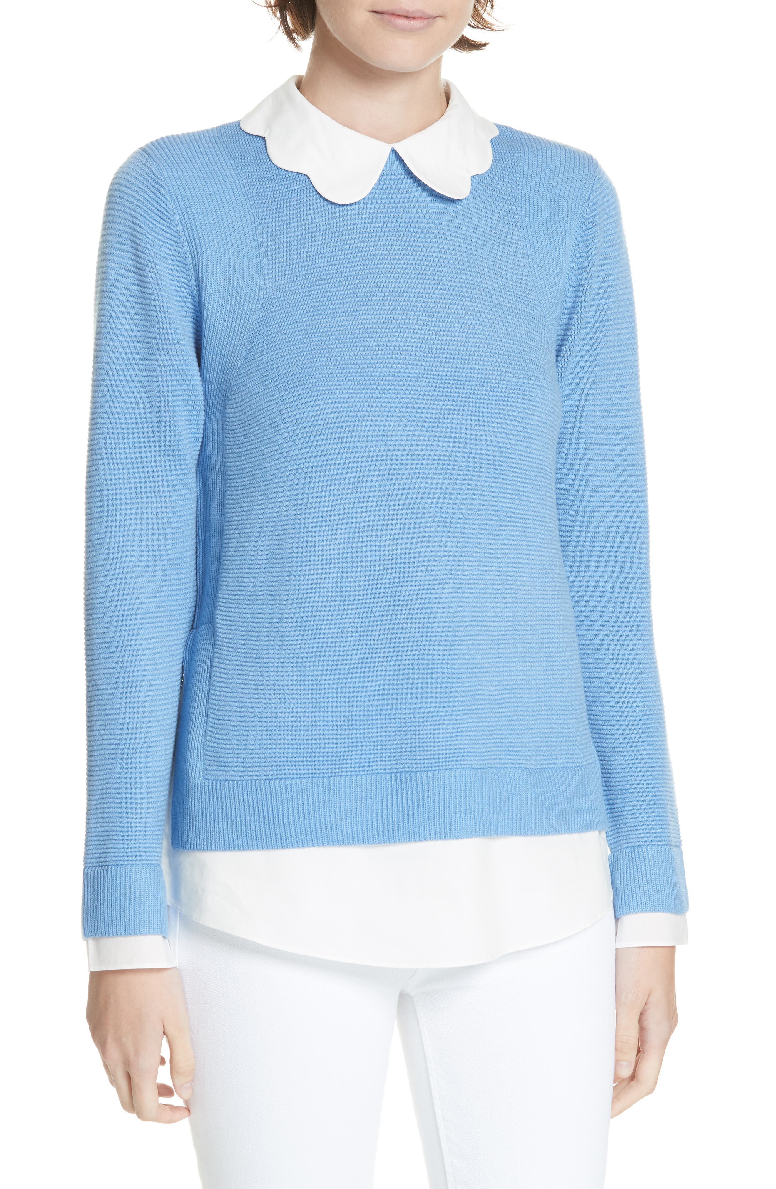 Bronwen Scalloped Collar Sweater,                             Main thumbnail 1, color,                             424