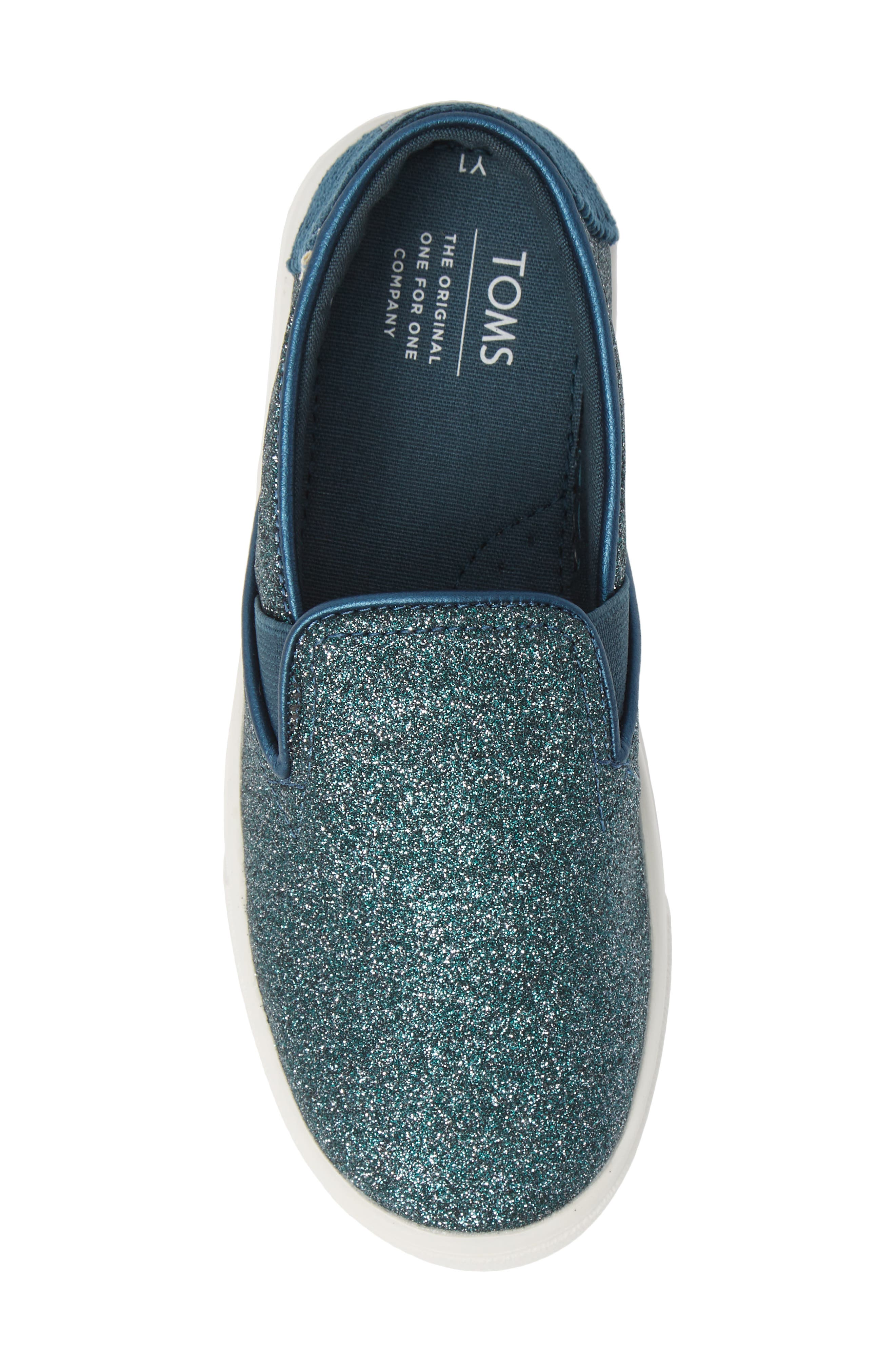 Luca Slip-On Sneaker,                             Alternate thumbnail 5, color,                             ATLANTIC IRIDESCENT/ CORDUROY