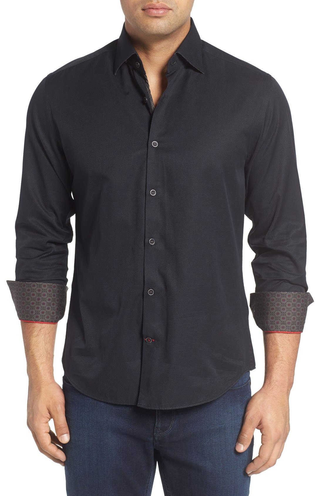 Textured Sport Shirt,                             Main thumbnail 1, color,                             001