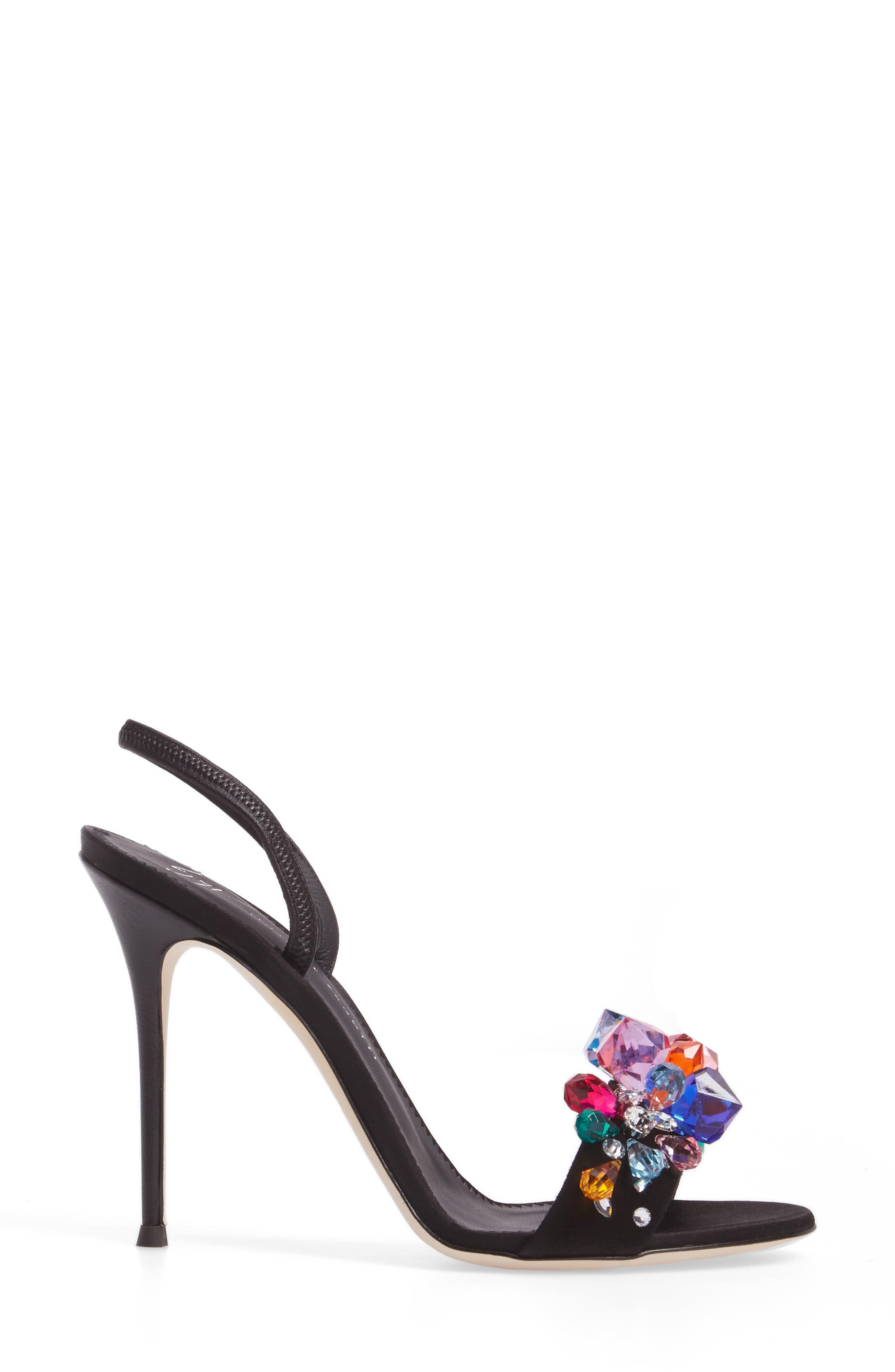 Mistico Crystal Embellished Slingback Sandal,                             Alternate thumbnail 3, color,