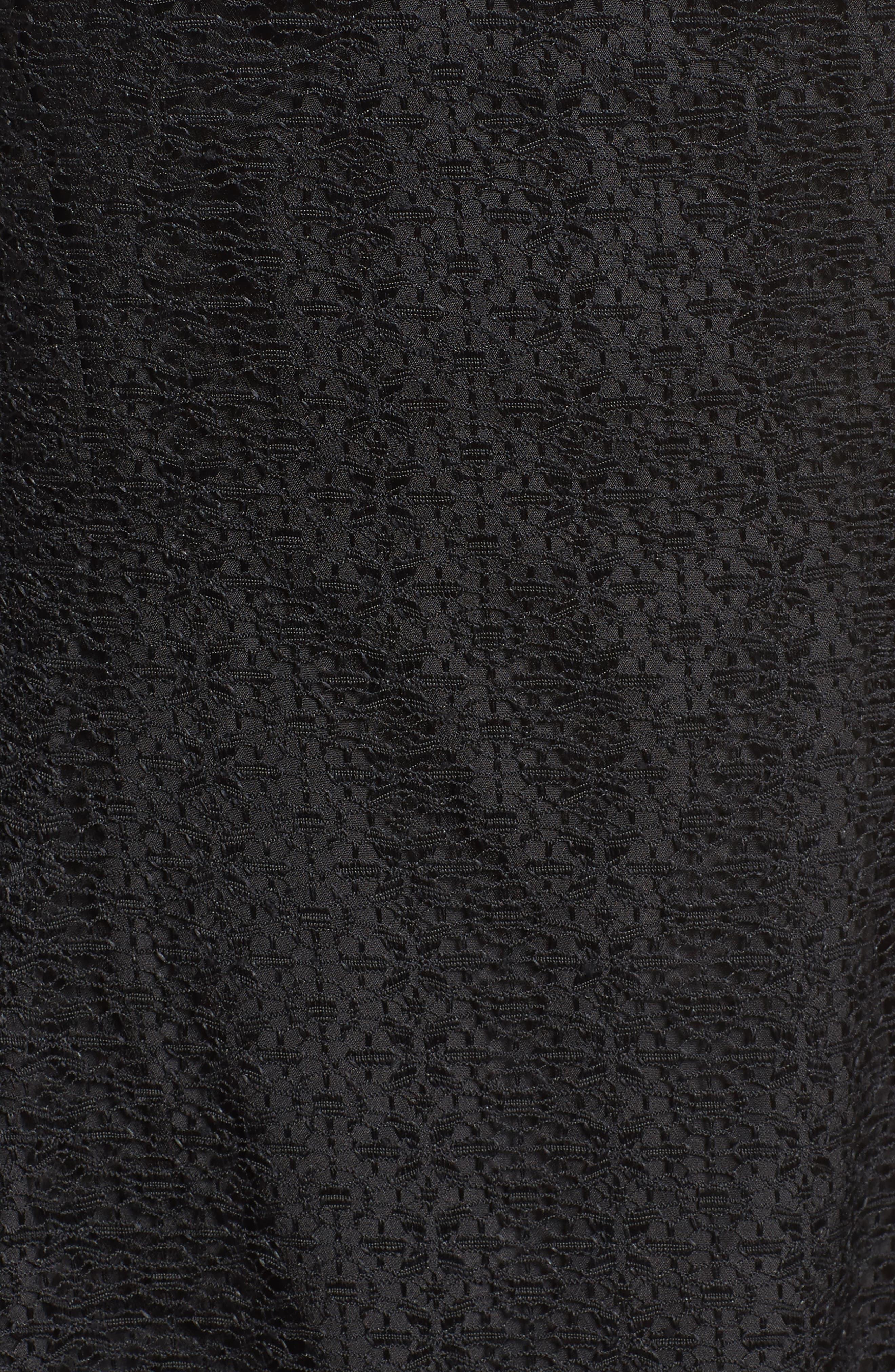 Ignite Lace Midi Dress,                             Alternate thumbnail 5, color,                             001