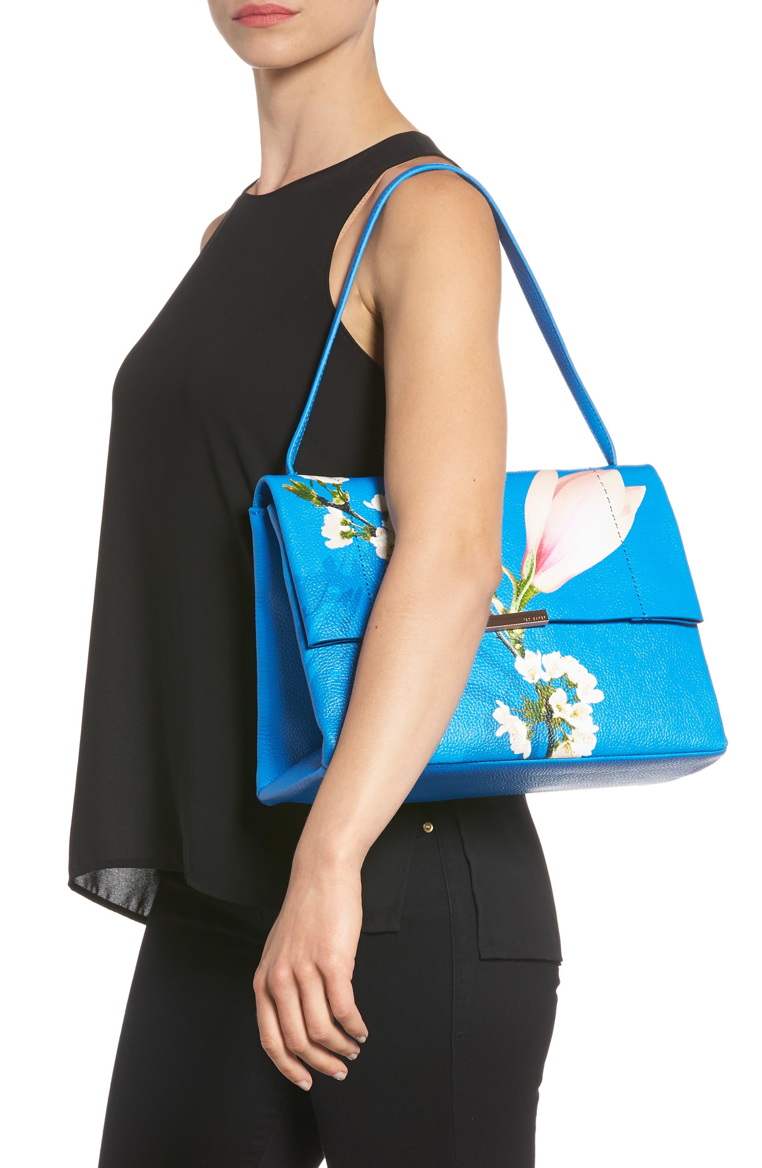 Heeidi Harmony Print Leather Shoulder Bag,                             Alternate thumbnail 2, color,                             430