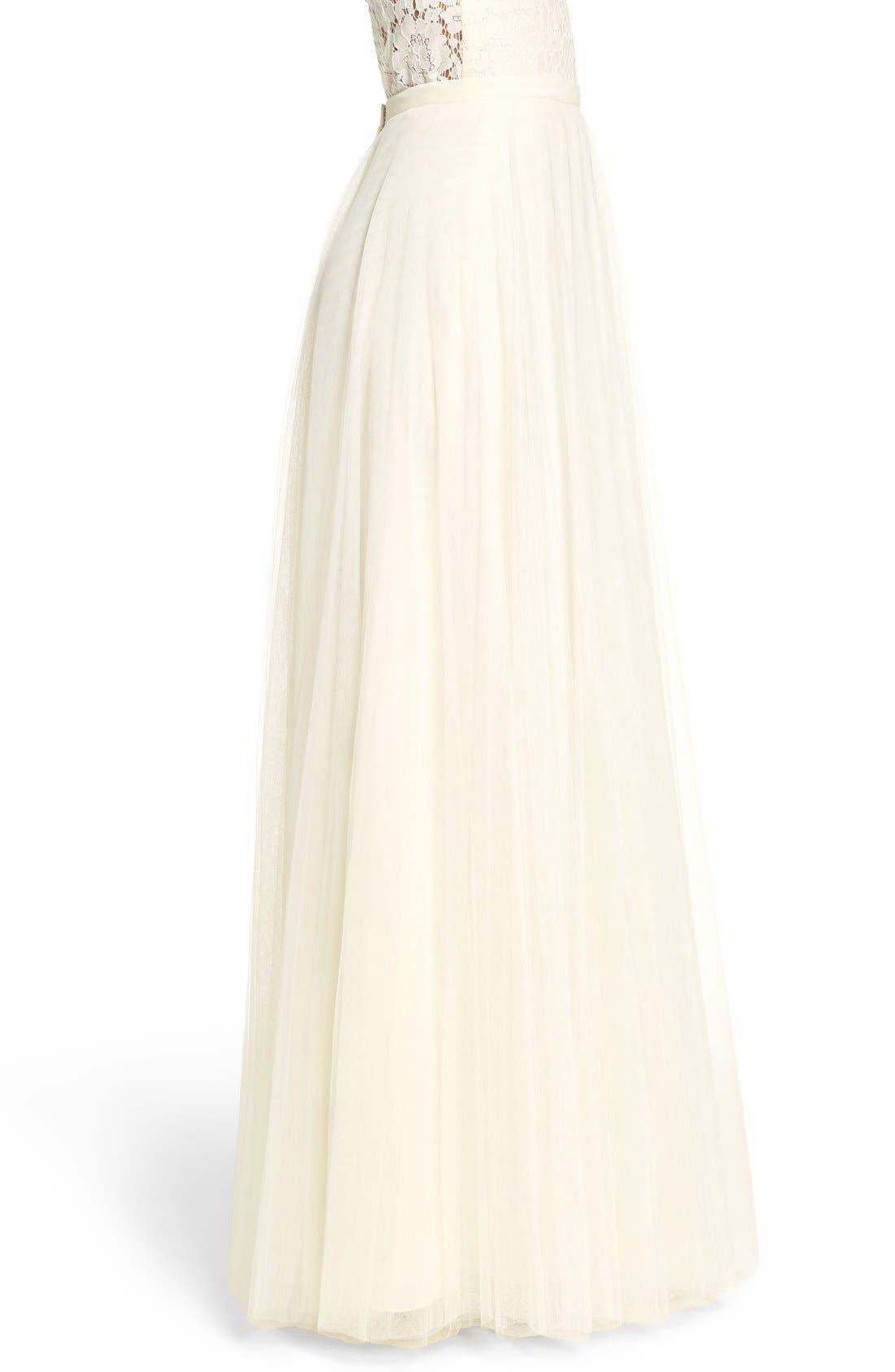 Winslow Long Tulle A-Line Skirt,                             Alternate thumbnail 4, color,                             104