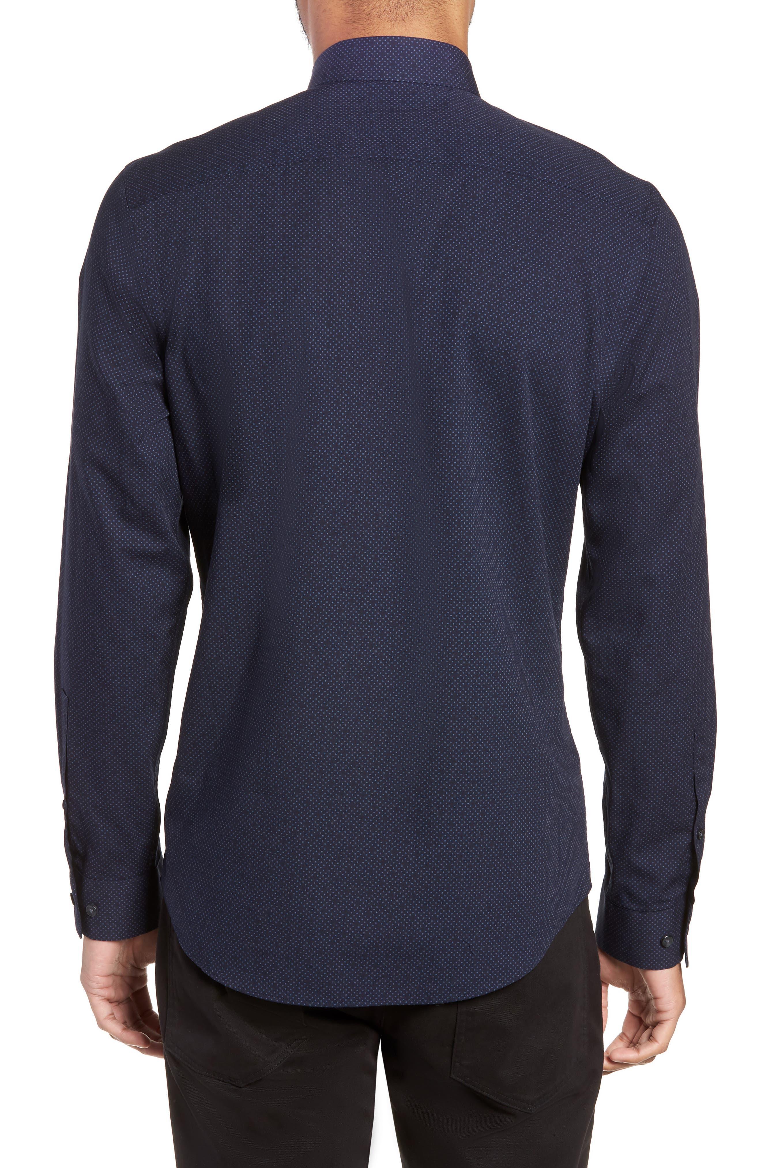 CALIBRATE,                             Slim Fit Dot Non-Iron Sport Shirt,                             Alternate thumbnail 2, color,                             410