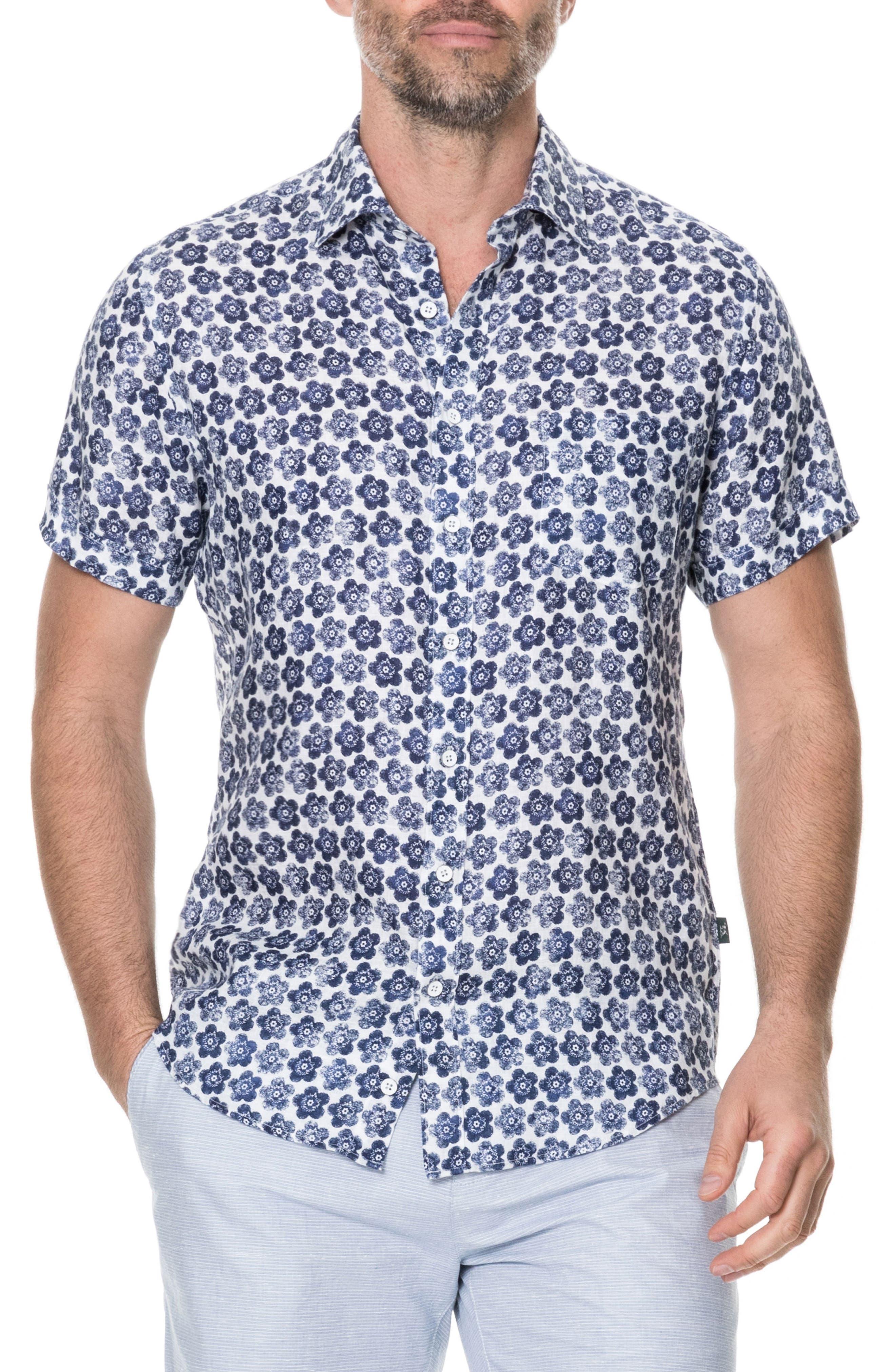 Keyburn Regular Fit Sport Shirt,                             Main thumbnail 1, color,                             PEACOAT