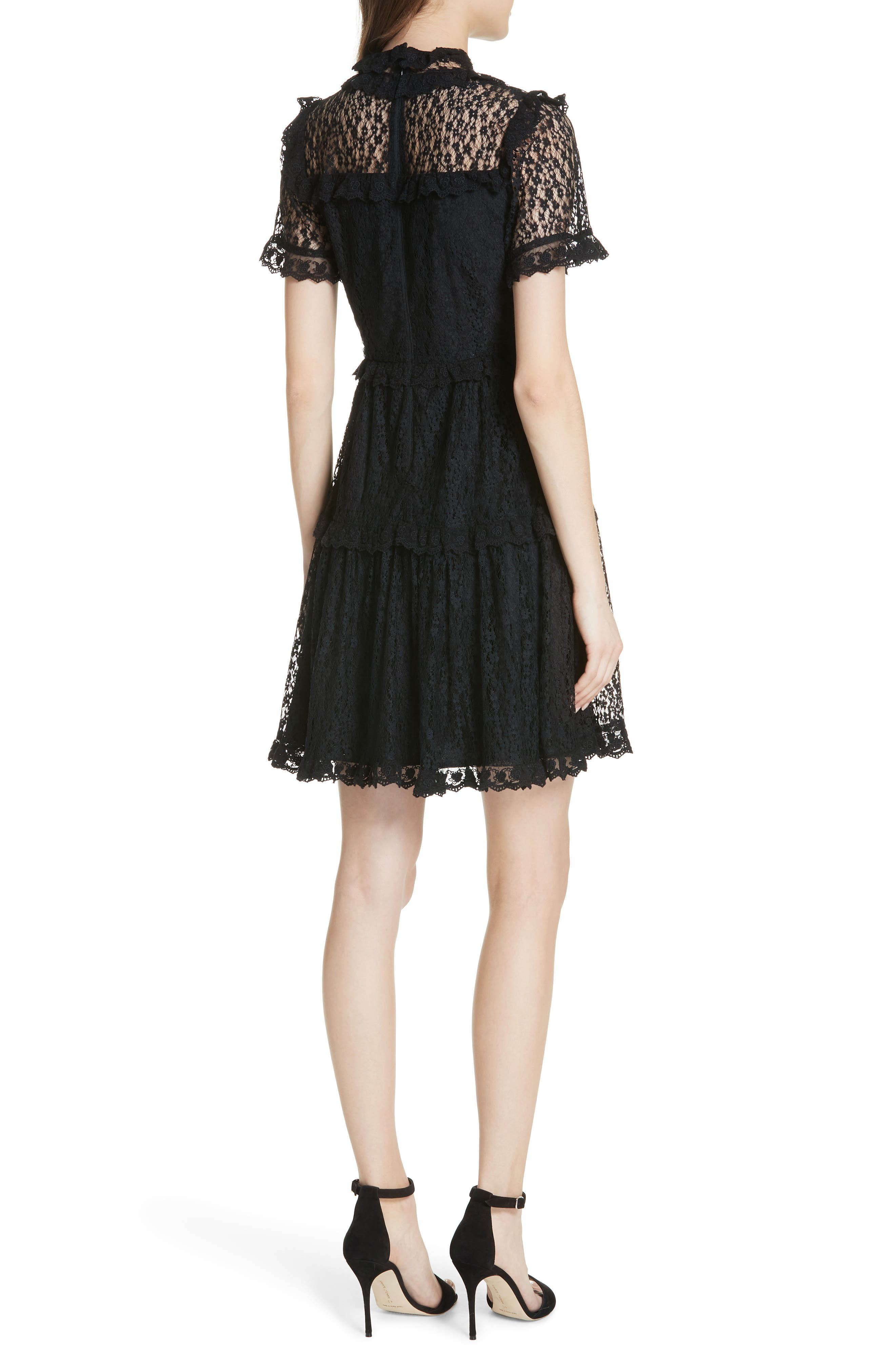 Daisy Lace Dress,                             Alternate thumbnail 2, color,                             001