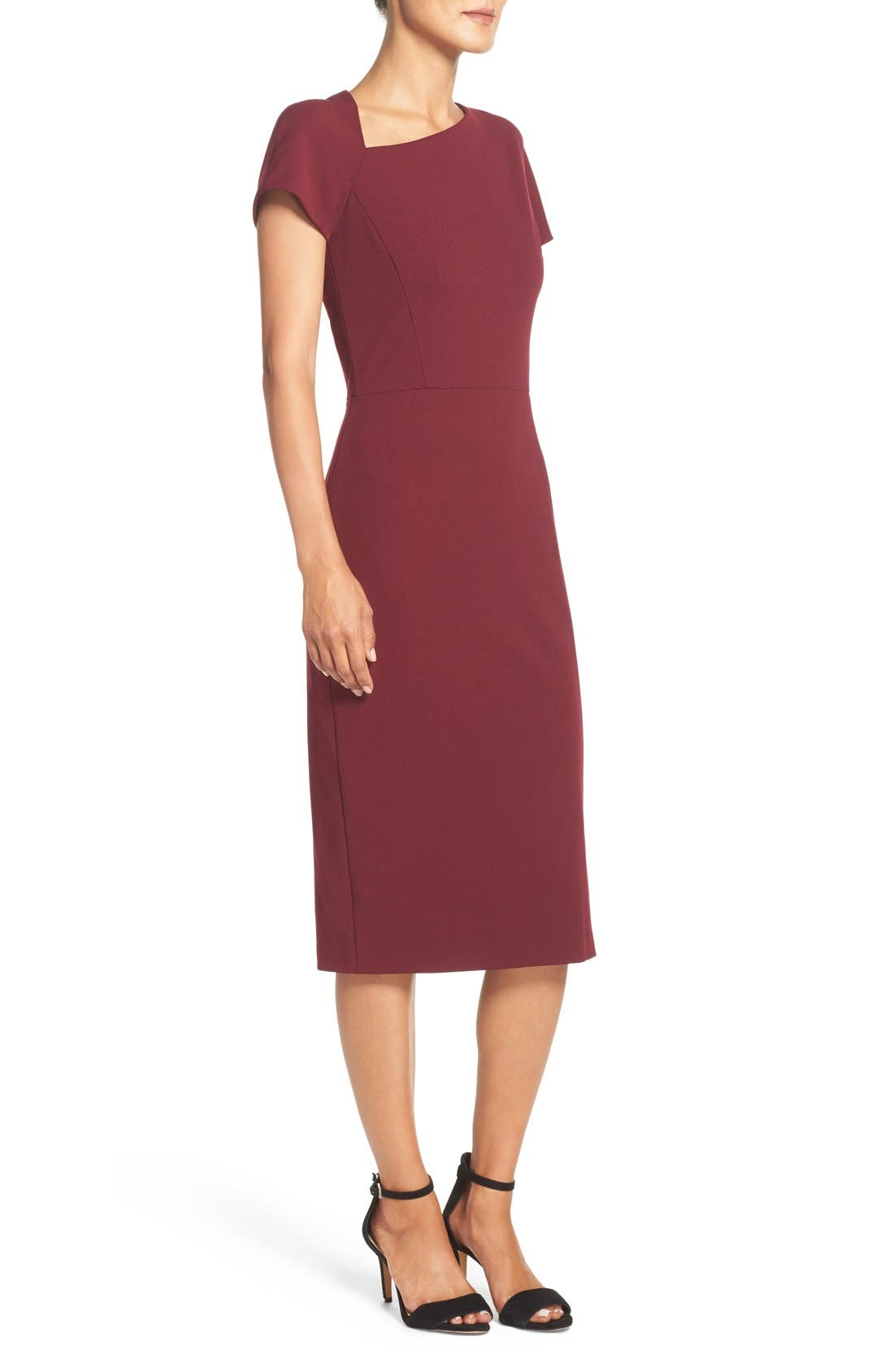 Asymmetrical Sheath Dress,                             Alternate thumbnail 18, color,