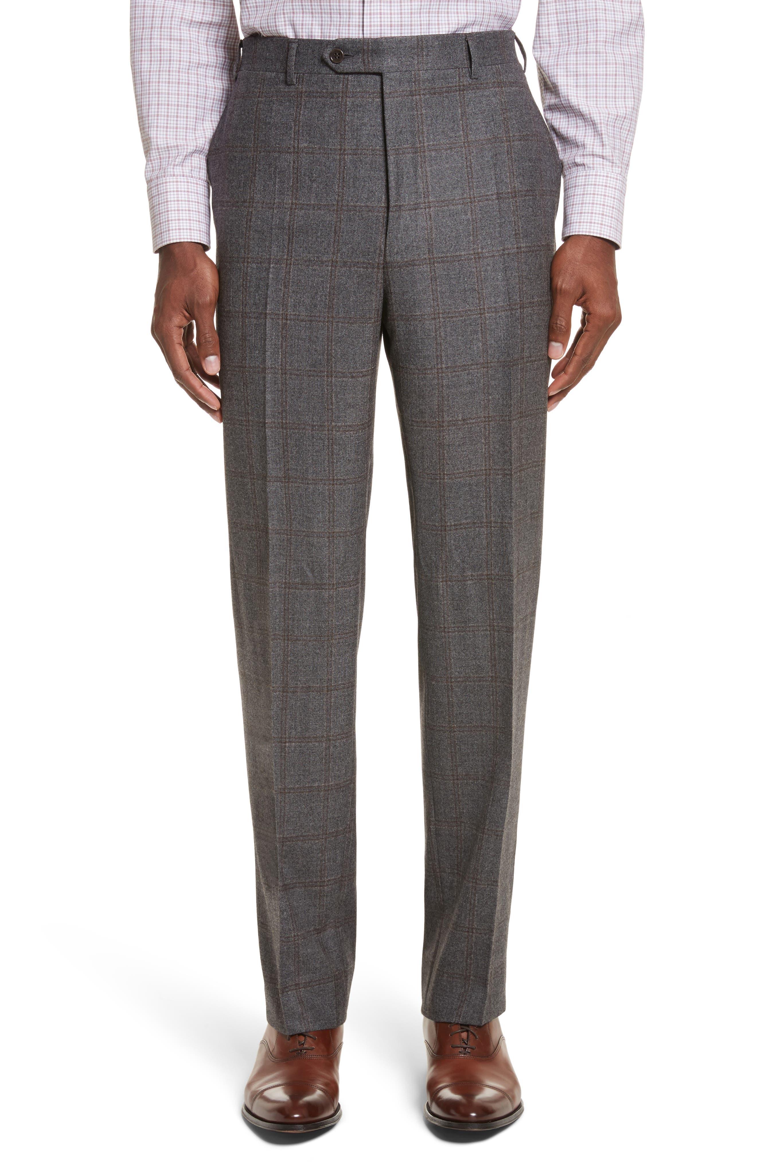 Classic Fit Plaid Wool Suit,                             Alternate thumbnail 6, color,                             030