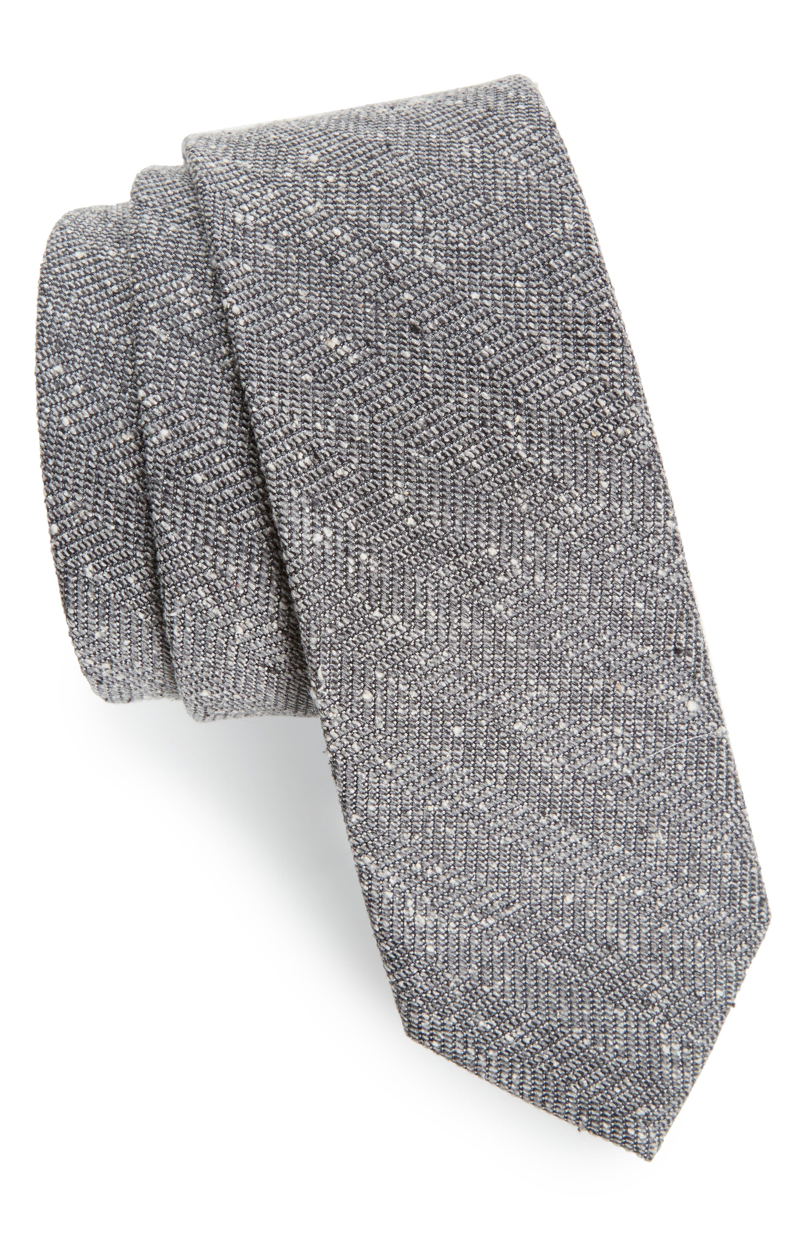 Zigzag Silk Tie,                             Main thumbnail 1, color,                             030
