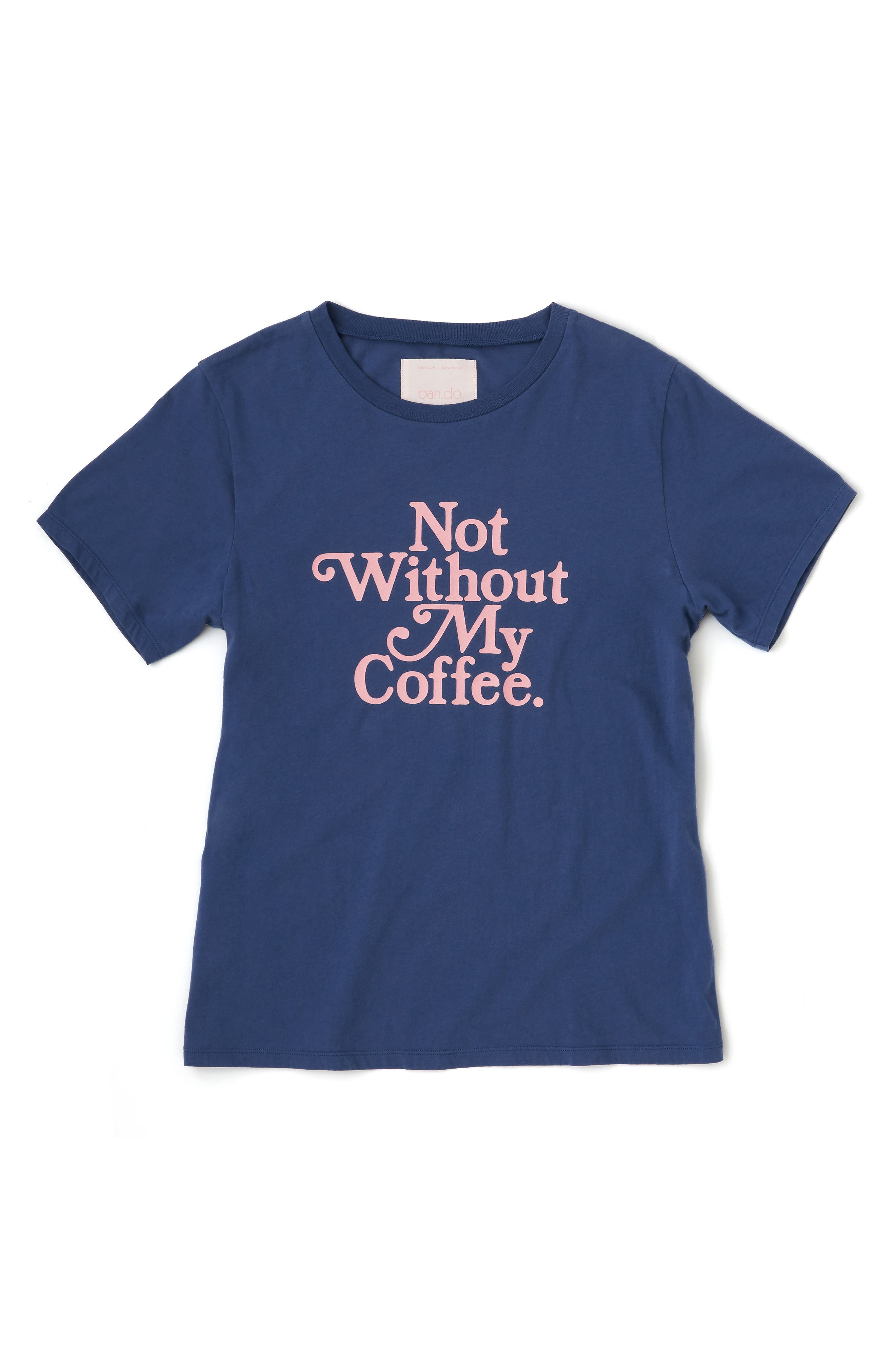 BAN.DO,                             Not Without My Coffee Classic Tee,                             Alternate thumbnail 2, color,                             NAVY