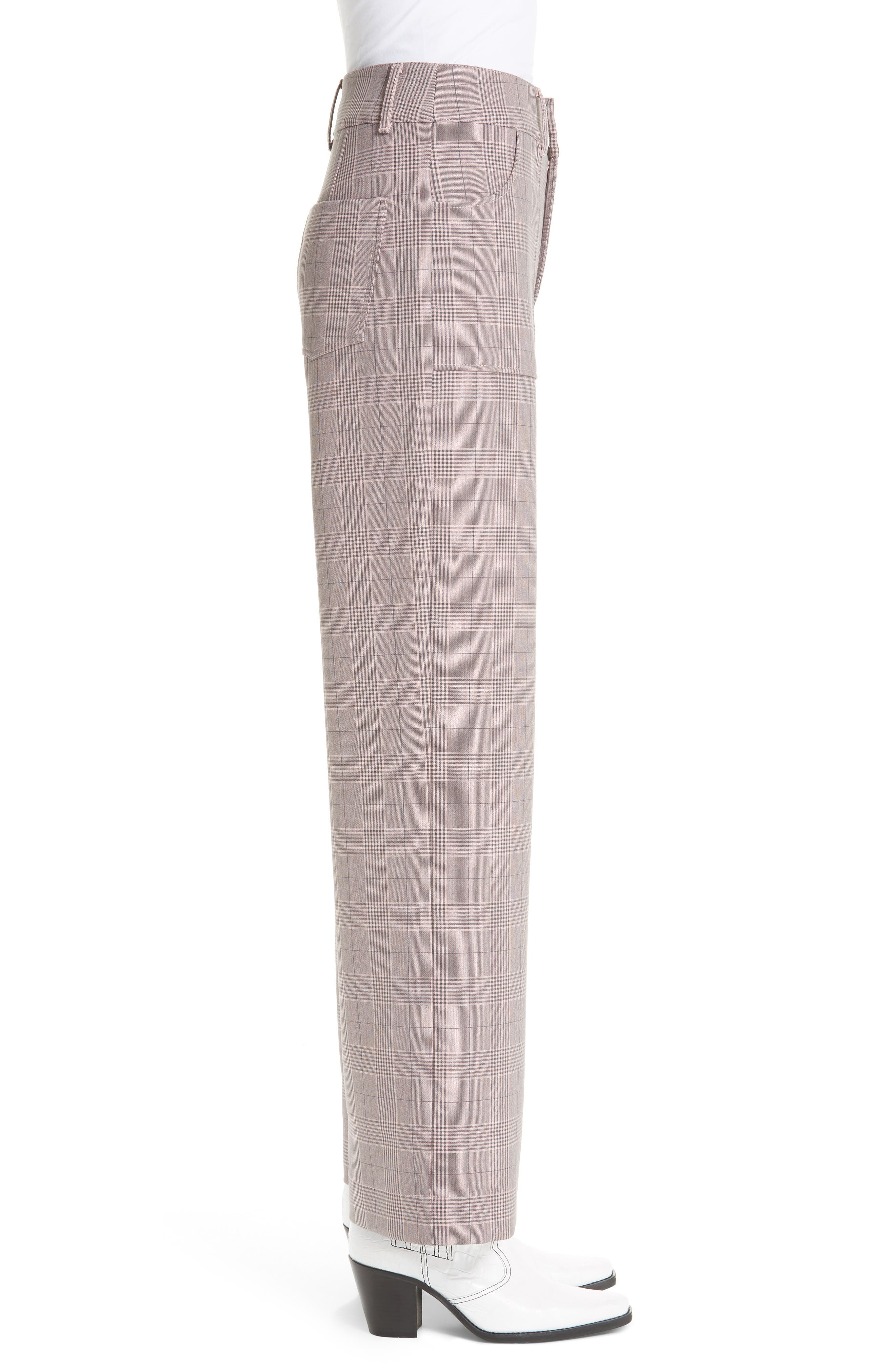 GANNI,                             Suiting Pants,                             Alternate thumbnail 3, color,                             SILVER PINK 499