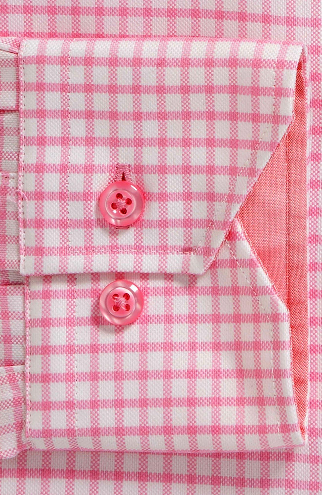 Trim Fit Check Dress Shirt,                             Alternate thumbnail 6, color,                             680