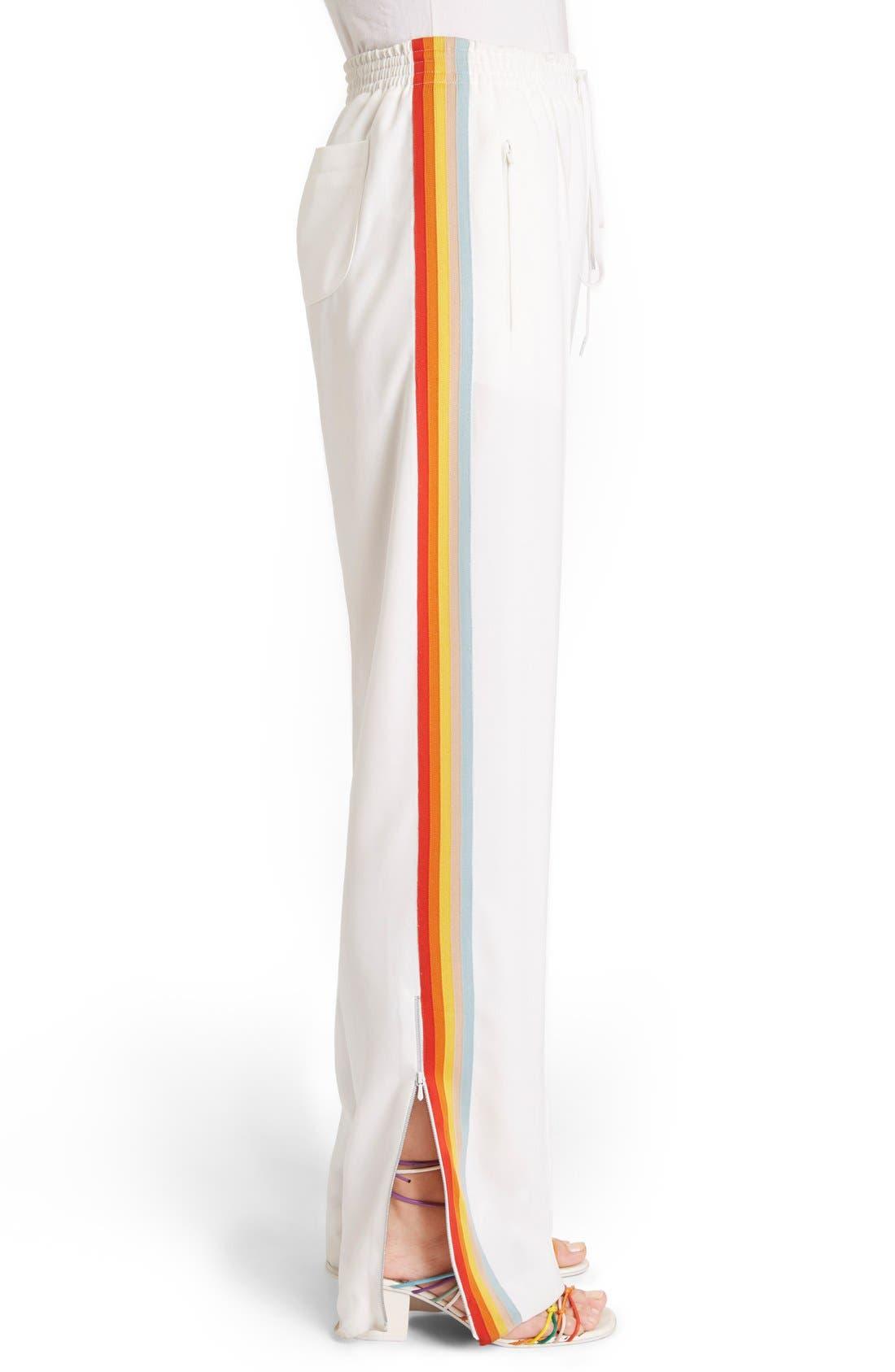 Rainbow Stripe Track Pants,                             Alternate thumbnail 8, color,