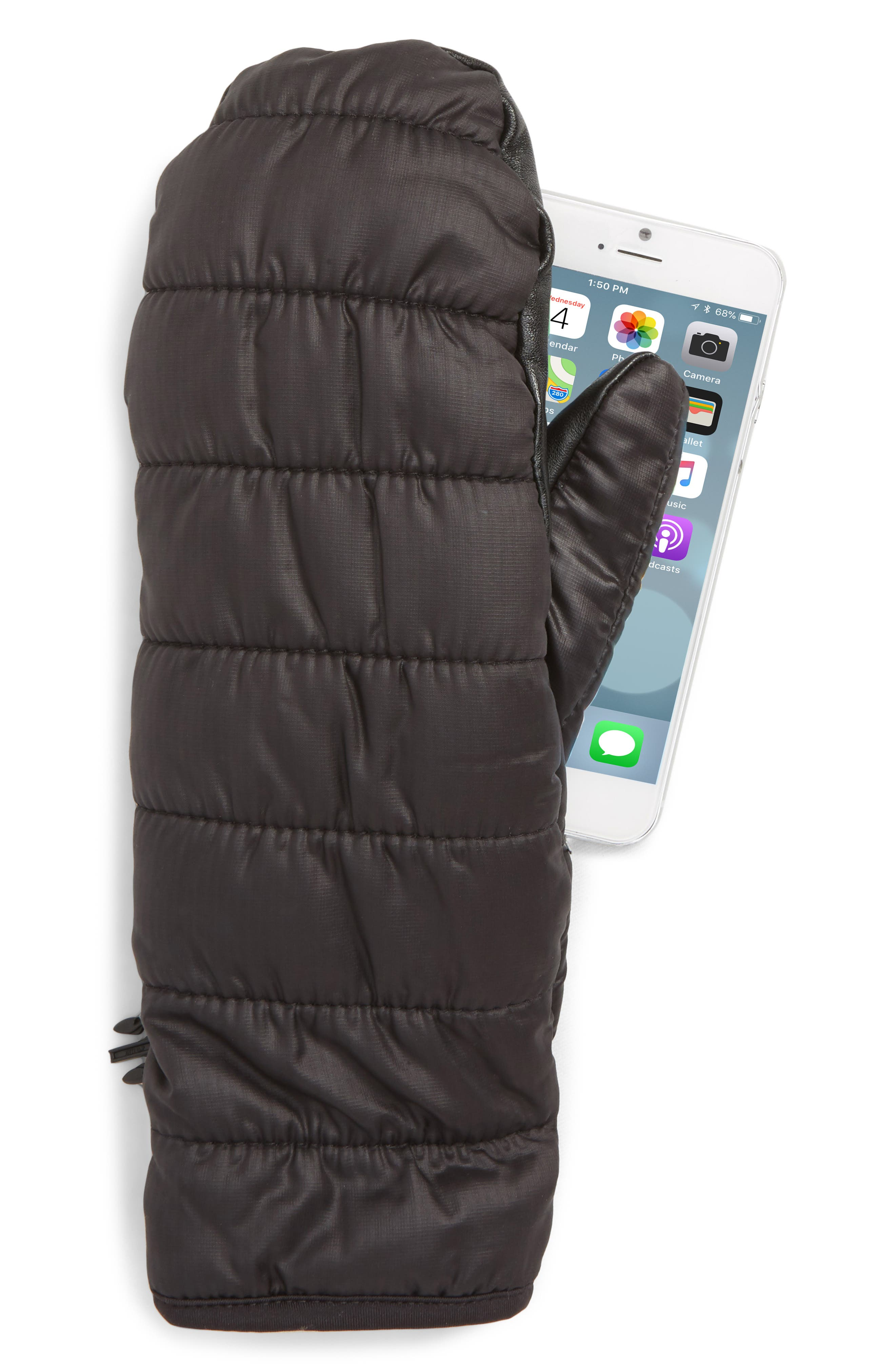 Extreme Cold Weather Touchscreen-Compatible Mittens,                             Alternate thumbnail 2, color,                             BLACK