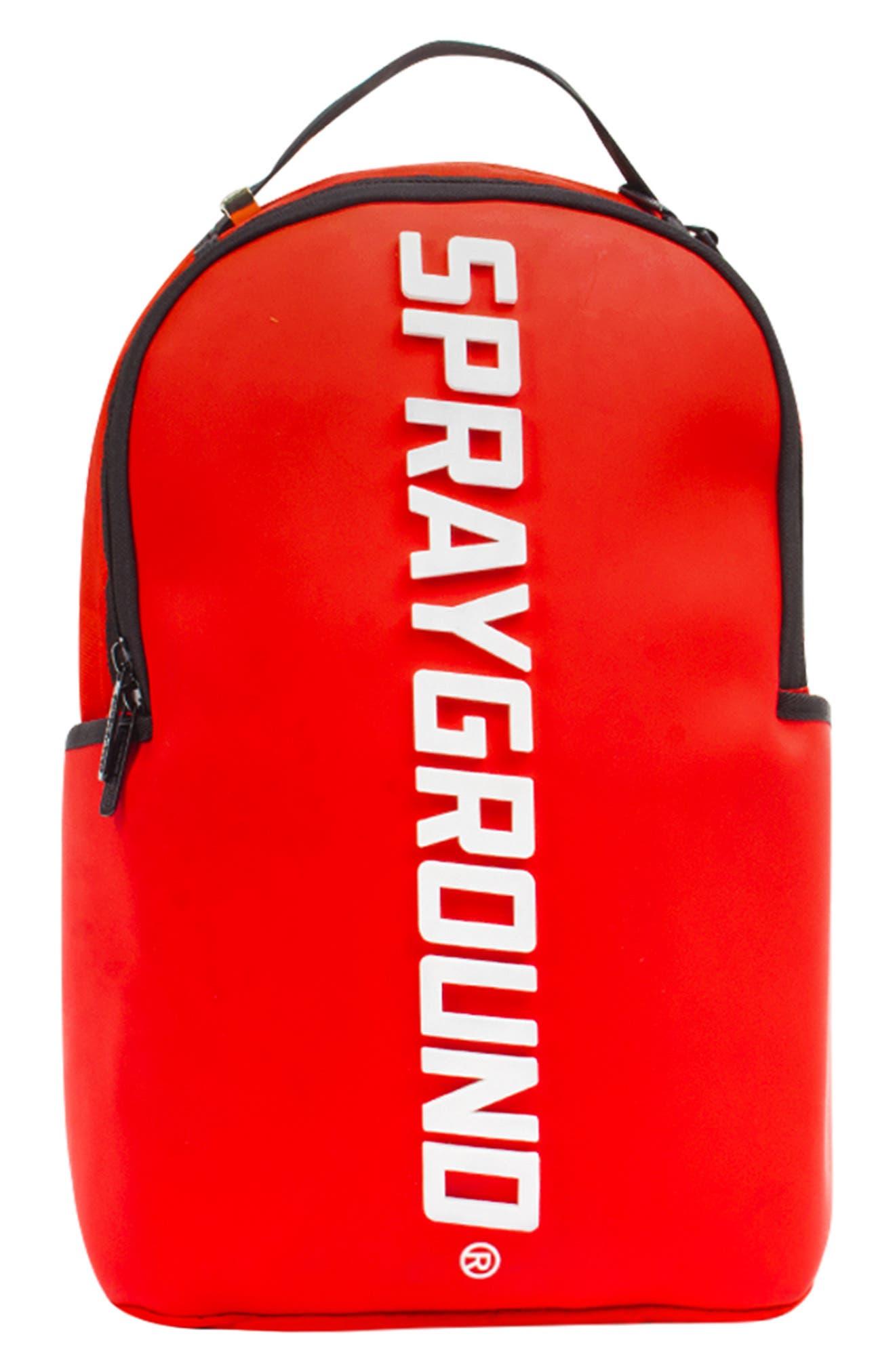 SPRAYGROUND Rubber Logo Backpack - Red