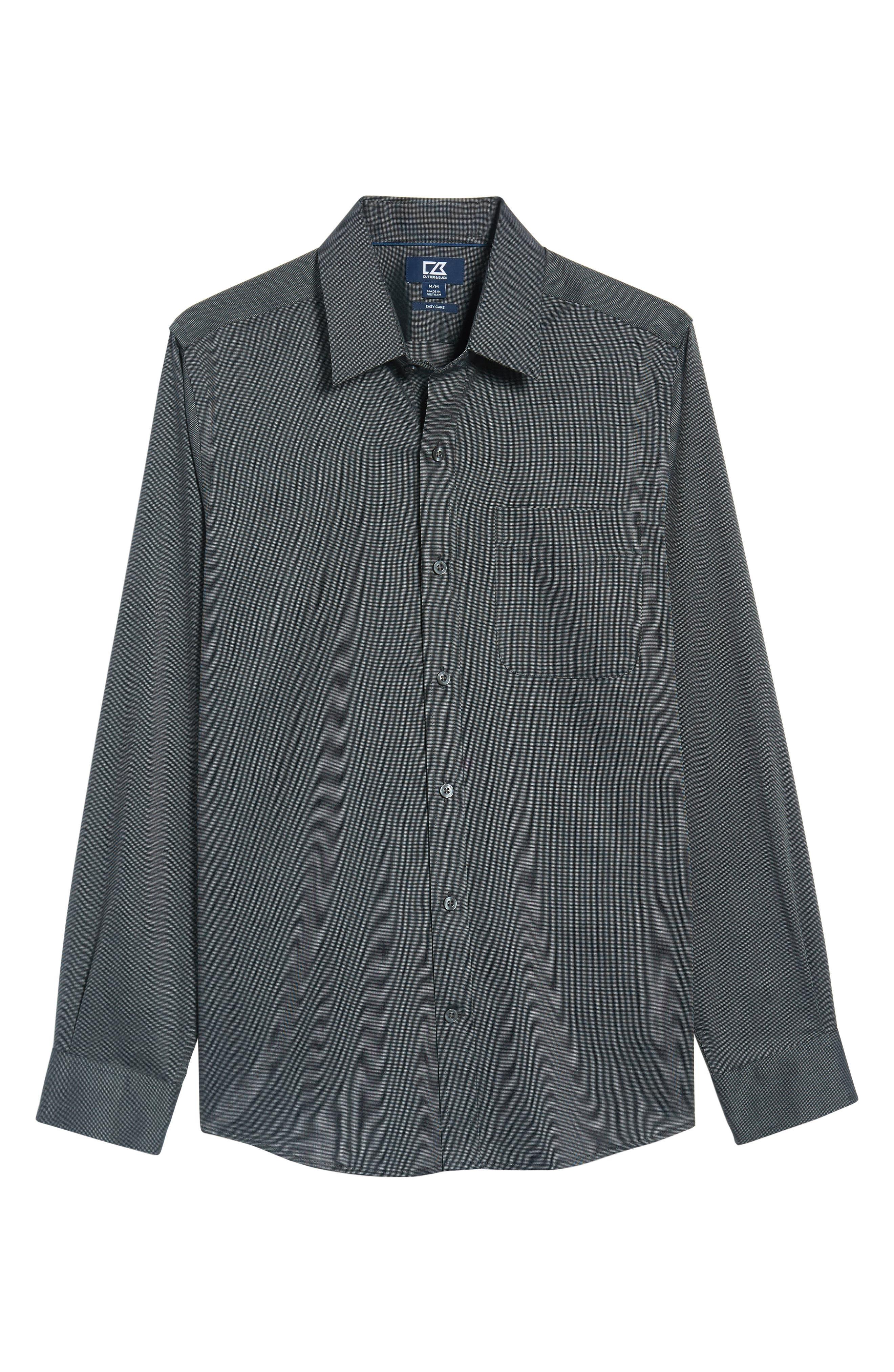 Tailored Fit Sport Shirt,                             Alternate thumbnail 6, color,                             BLACK