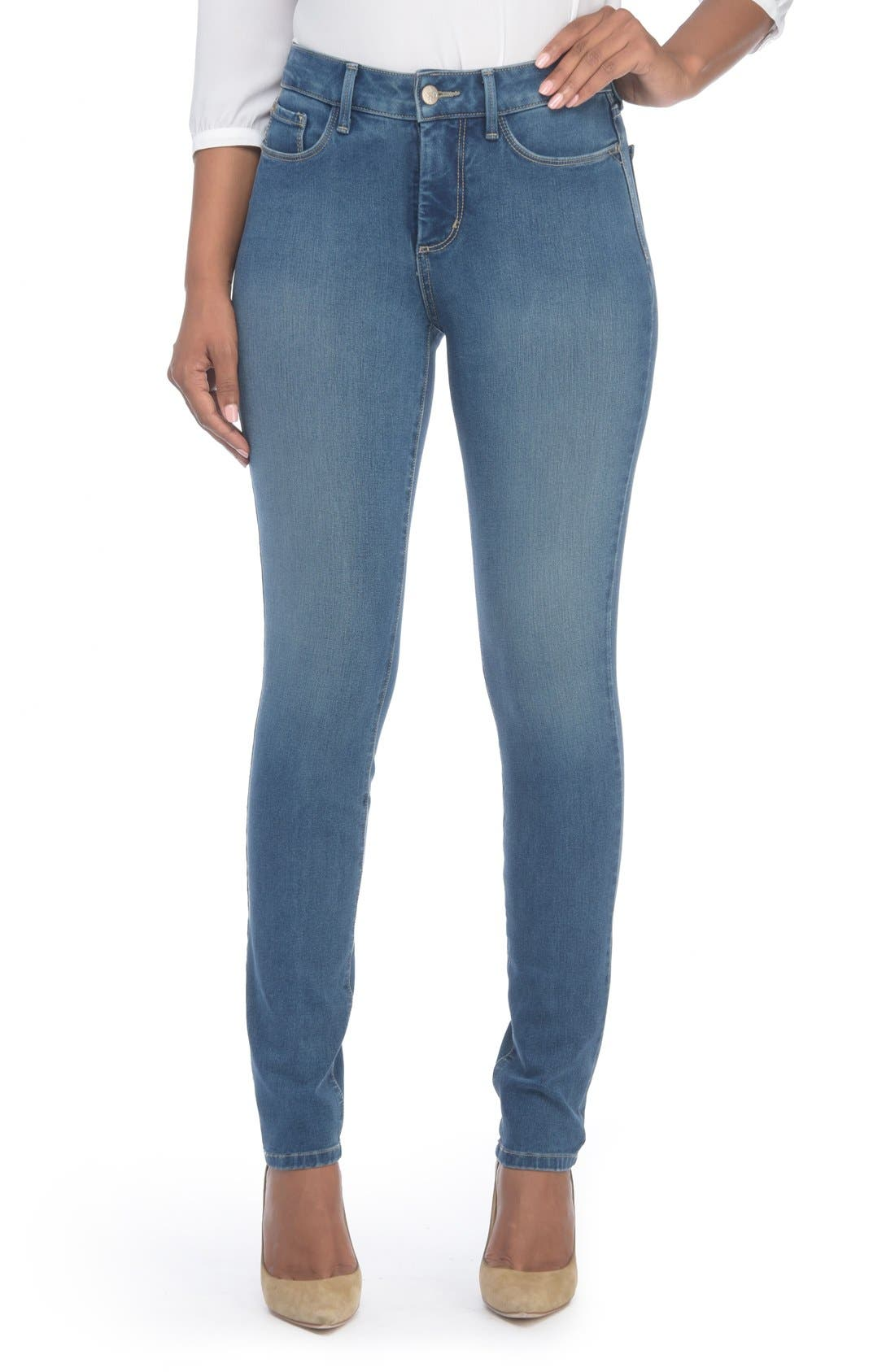Alina Colored Stretch Skinny Jeans,                             Alternate thumbnail 156, color,