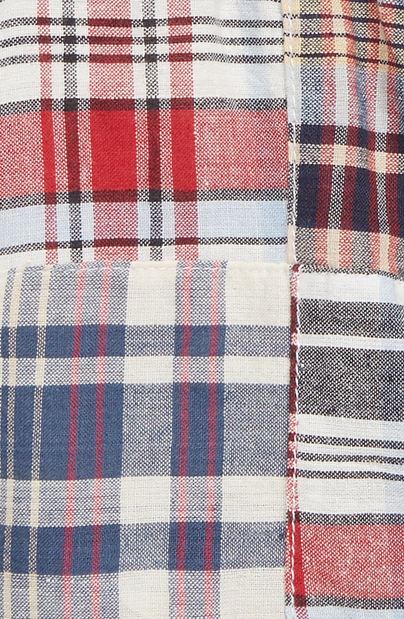 Maxwell Patchwork Plaid Shorts,                             Alternate thumbnail 2, color,                             400