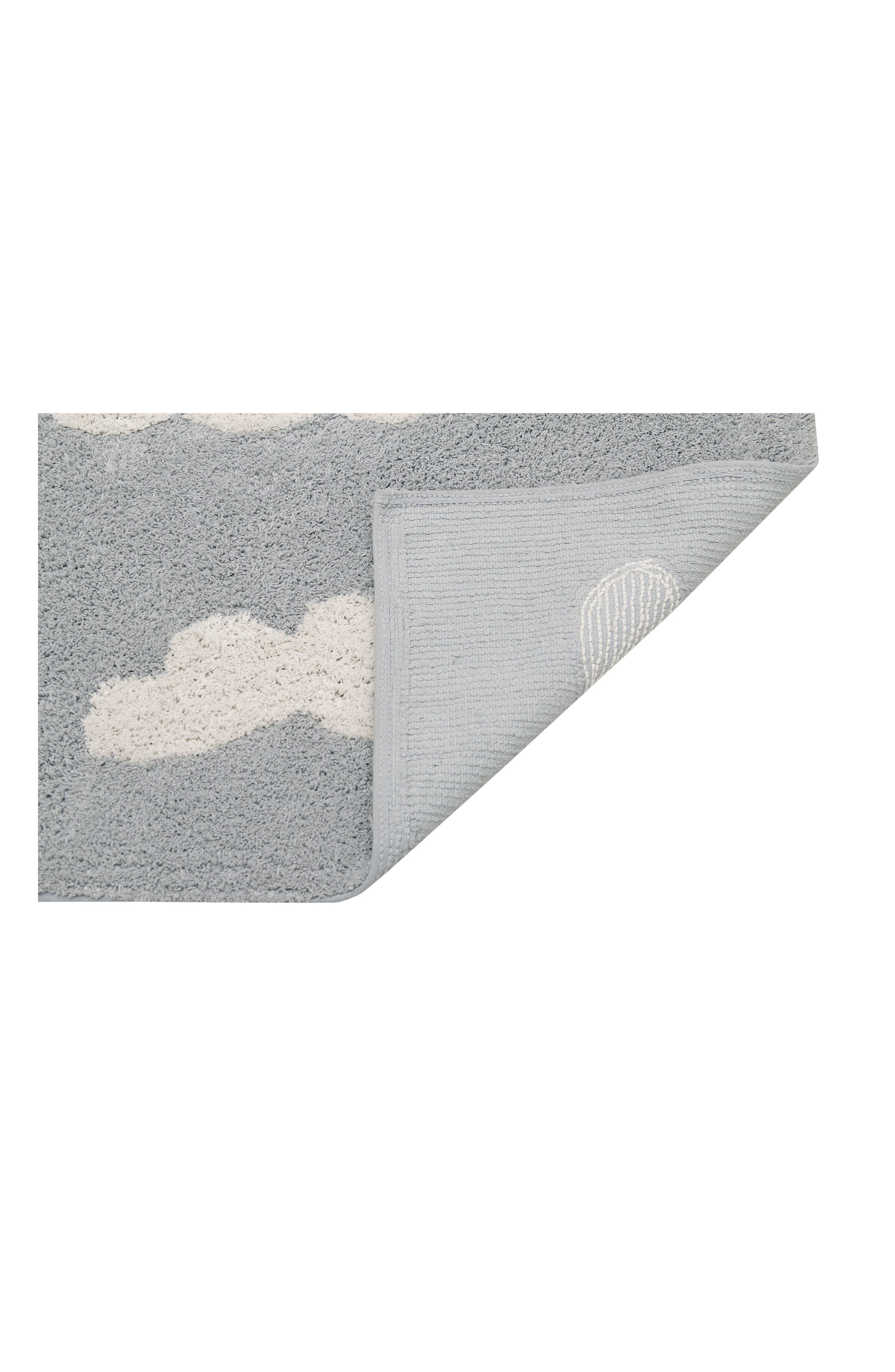Clouds Rug,                             Alternate thumbnail 3, color,                             CLOUDS GREY