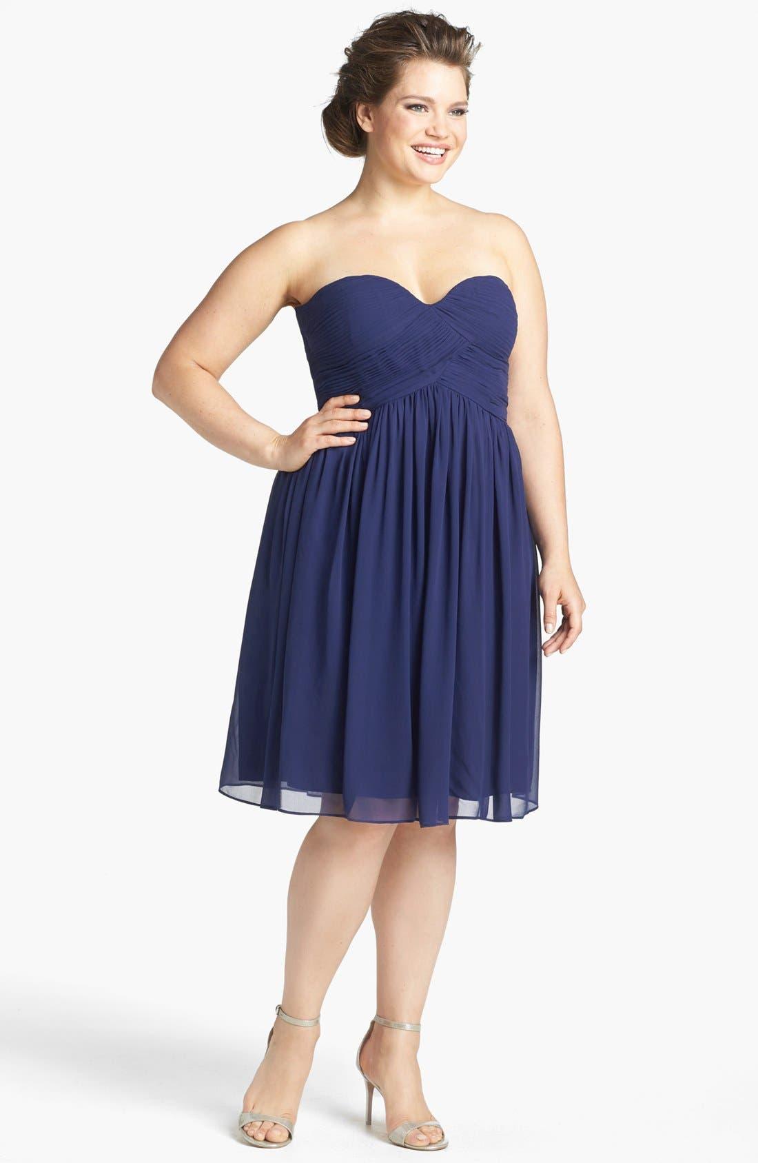 'Morgan' Strapless Silk Chiffon Dress,                             Alternate thumbnail 88, color,